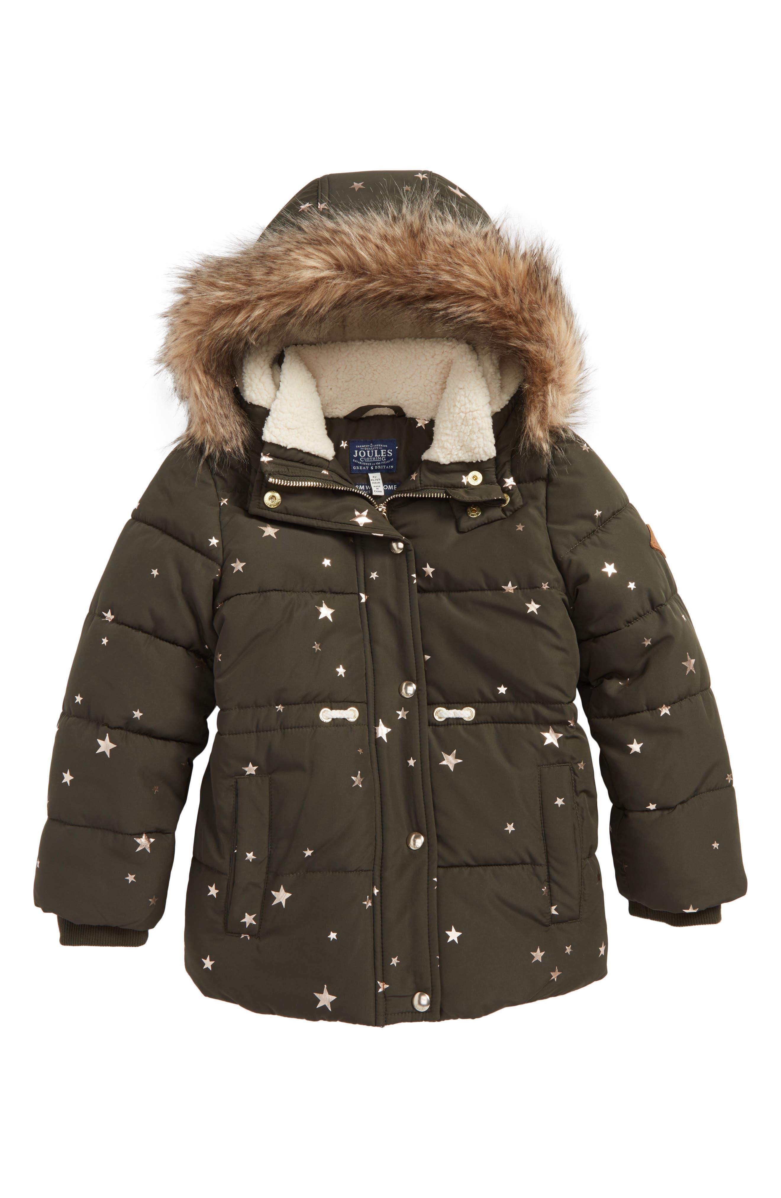 Joules Stella Hooded Puffer Jacket (Toddler Girls, Little Girls & Big Girls)