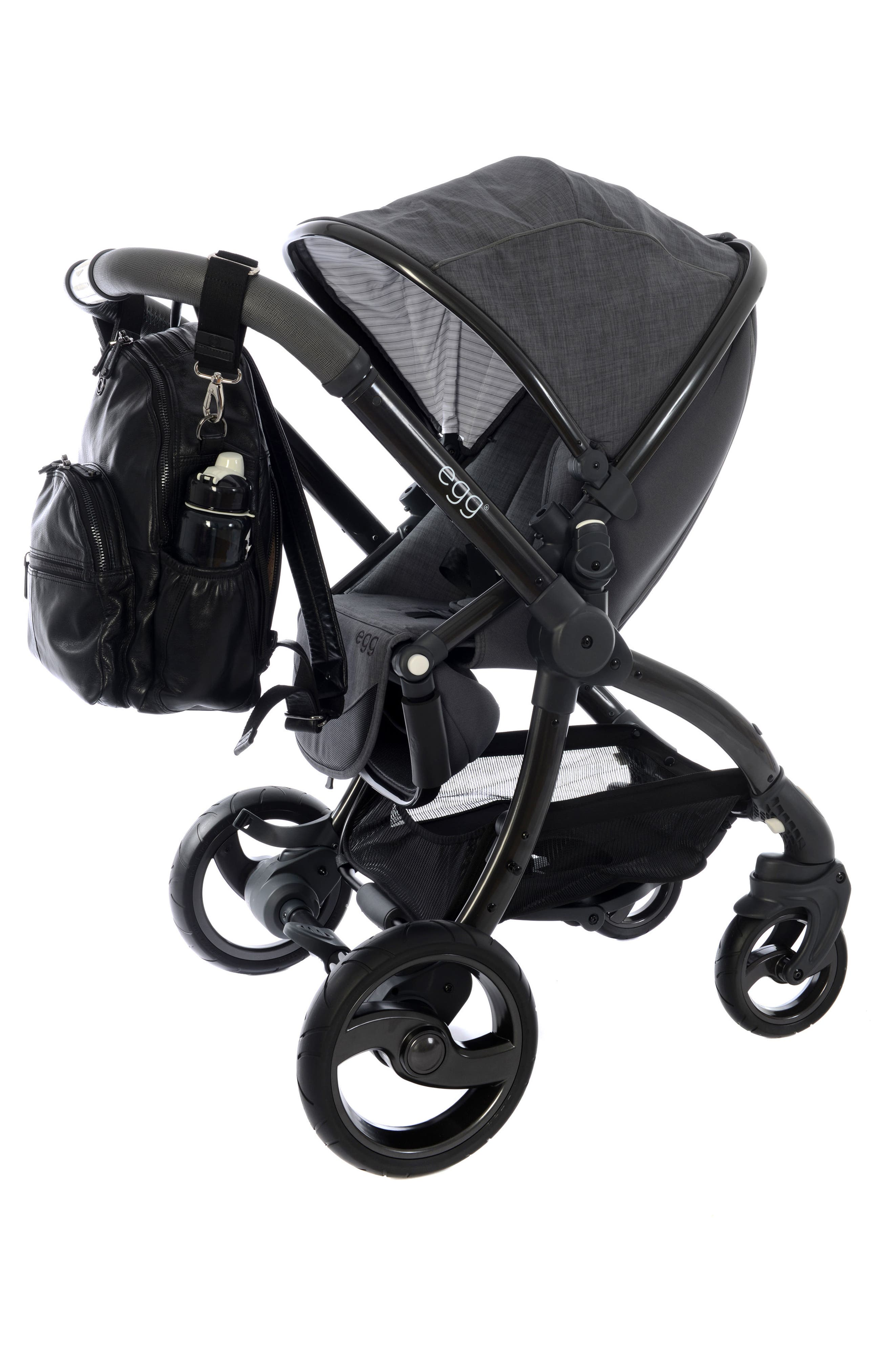 Joy XL Leather Backpack,                             Alternate thumbnail 2, color,                             Black