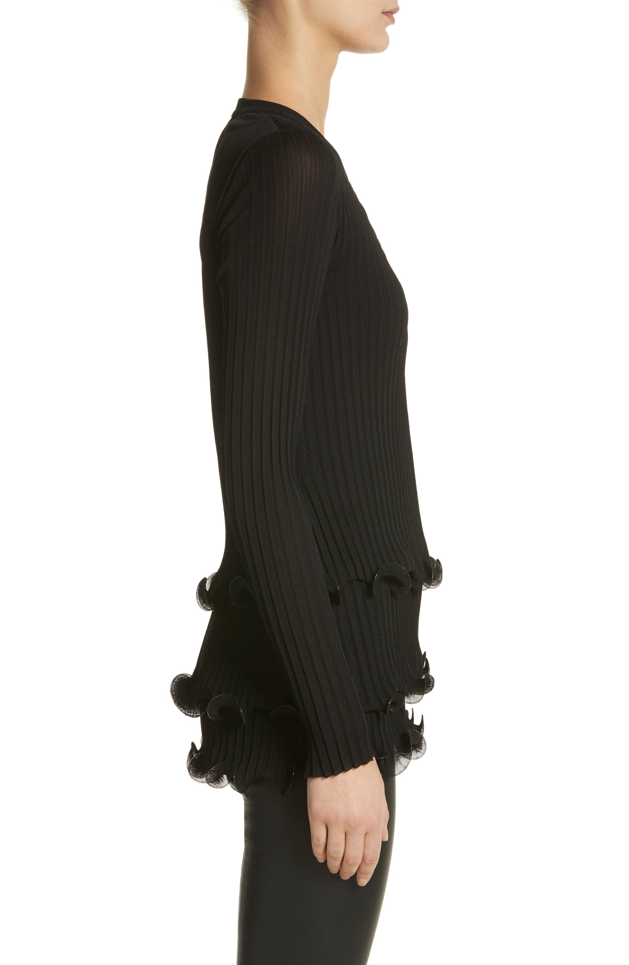 Alternate Image 3  - Givenchy Ruffle Hem Rib Knit Top