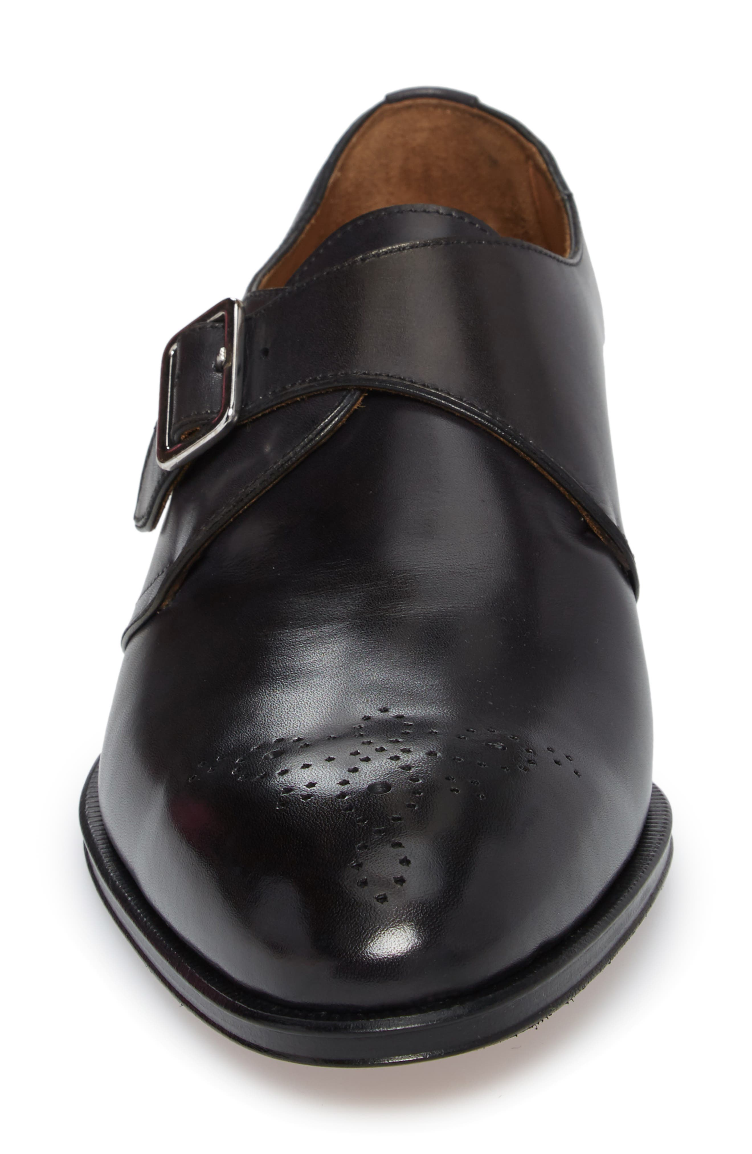 Gallo Bianco Bologna Monk Strap Shoe,                             Alternate thumbnail 4, color,                             Anthracite