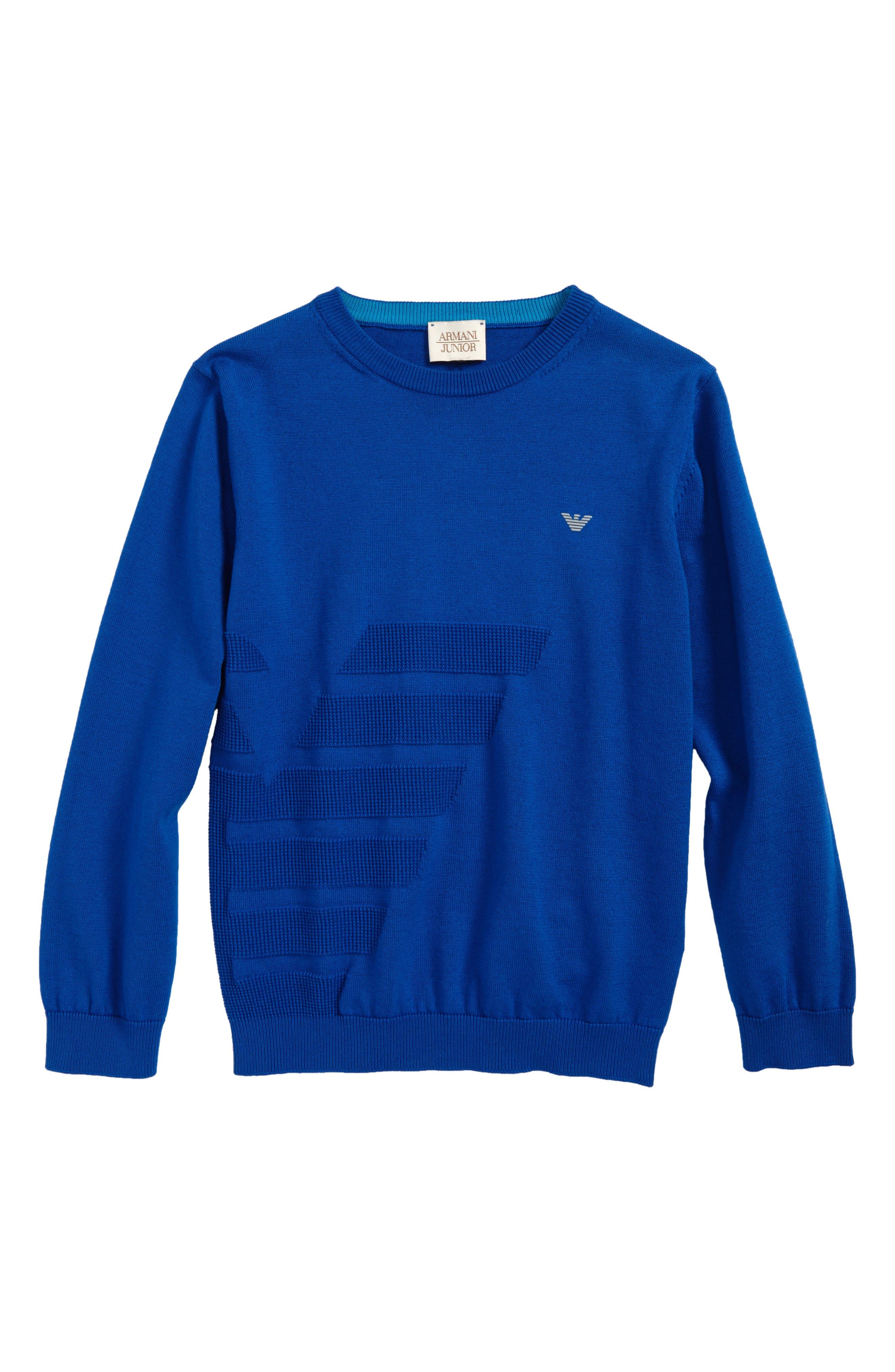 Logo Sweater,                         Main,                         color, Royal Blue