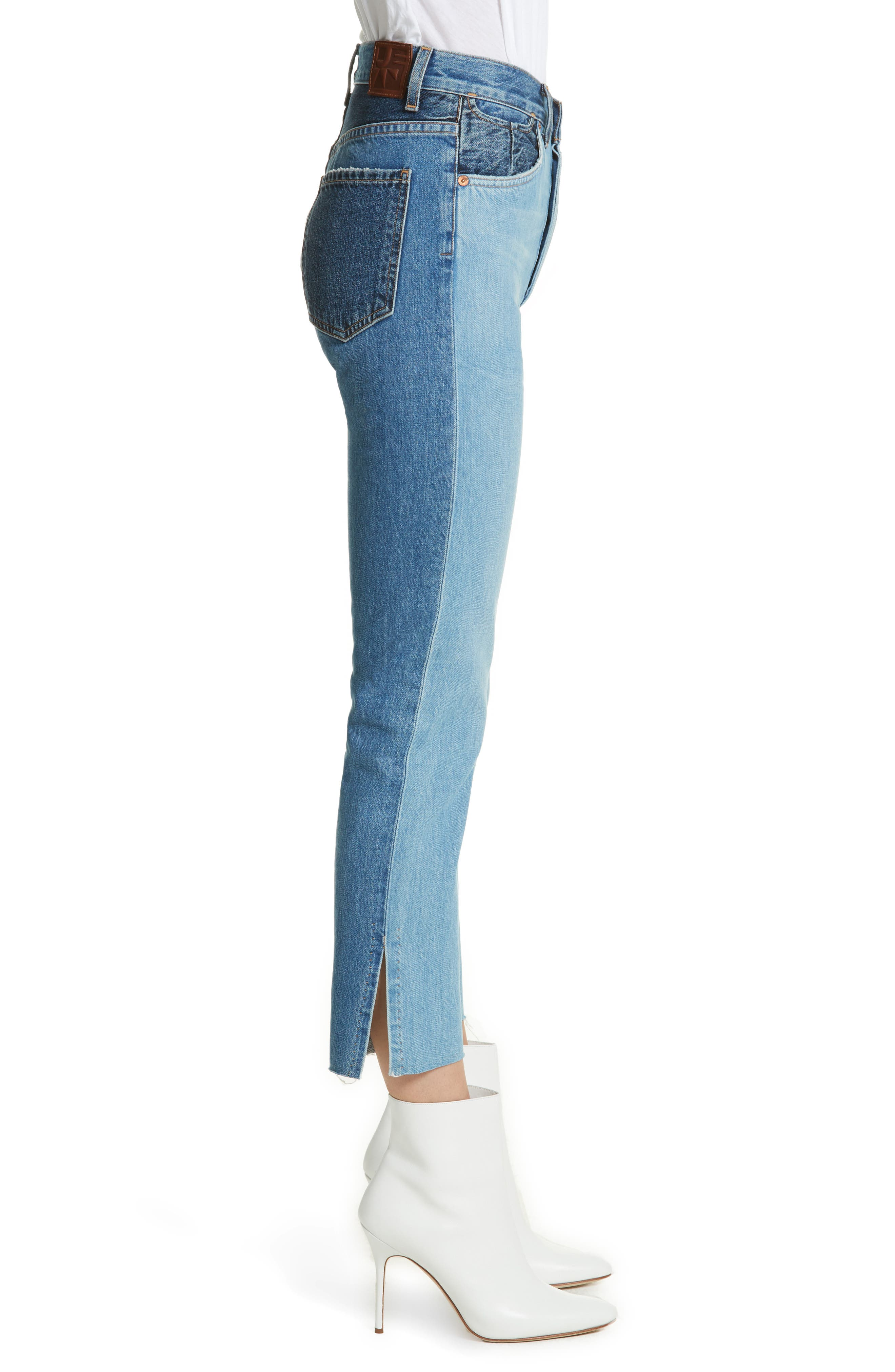 Hunter High Rise Straight Leg Crop Jeans,                             Alternate thumbnail 3, color,                             Jagger