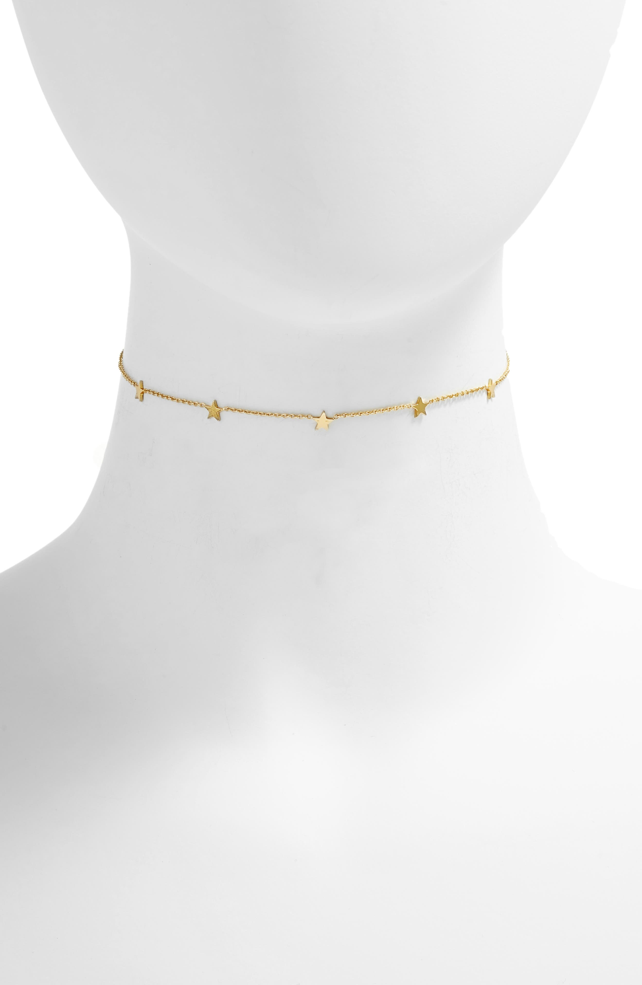 Paige Star Necklace,                         Main,                         color, Gold
