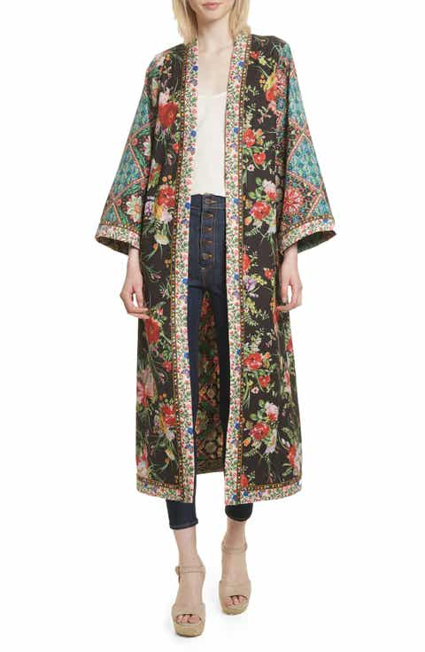 Alice + Olivia Lynn Mixed Print Long Kimono