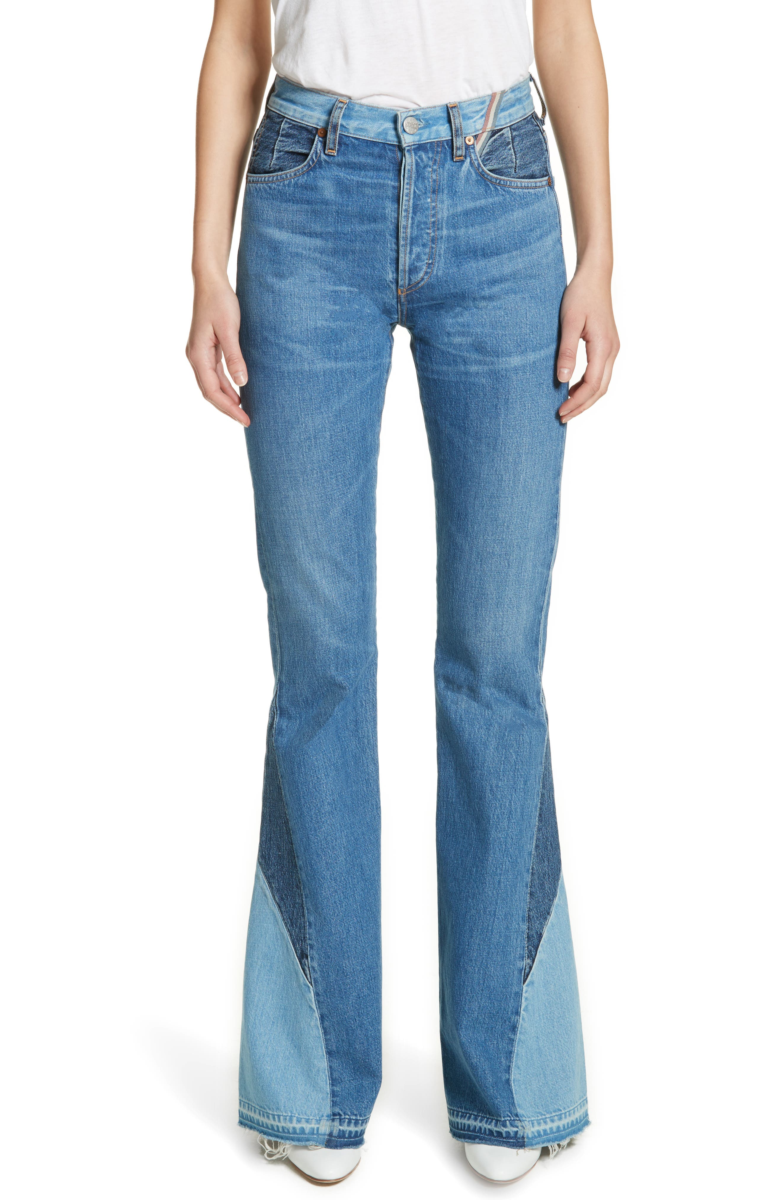 Main Image - Jean Atelier Janis High Rise Flare Jeans (Jagger)