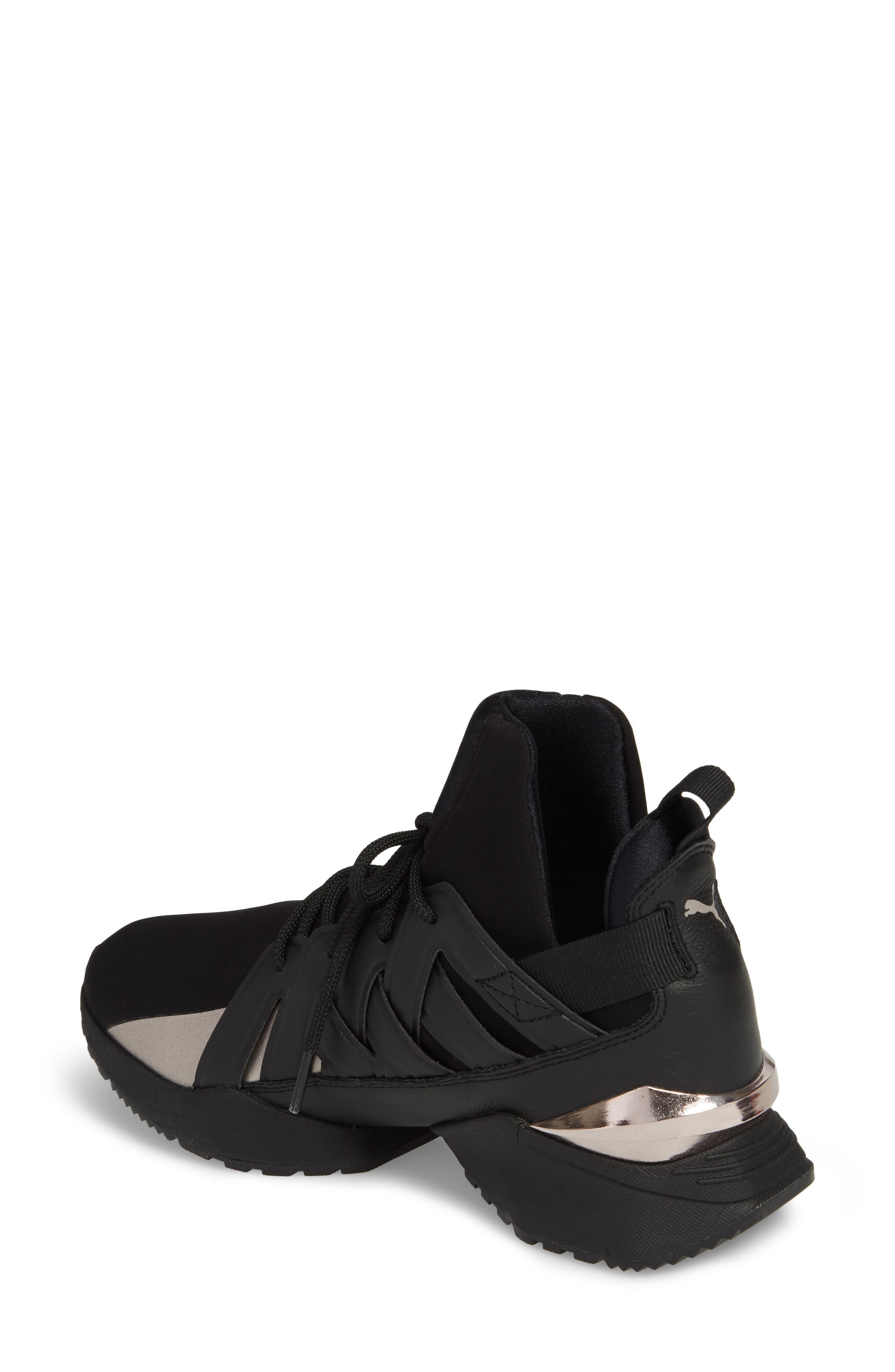 Muse Echo Sneaker,                             Alternate thumbnail 2, color,                             Puma Black