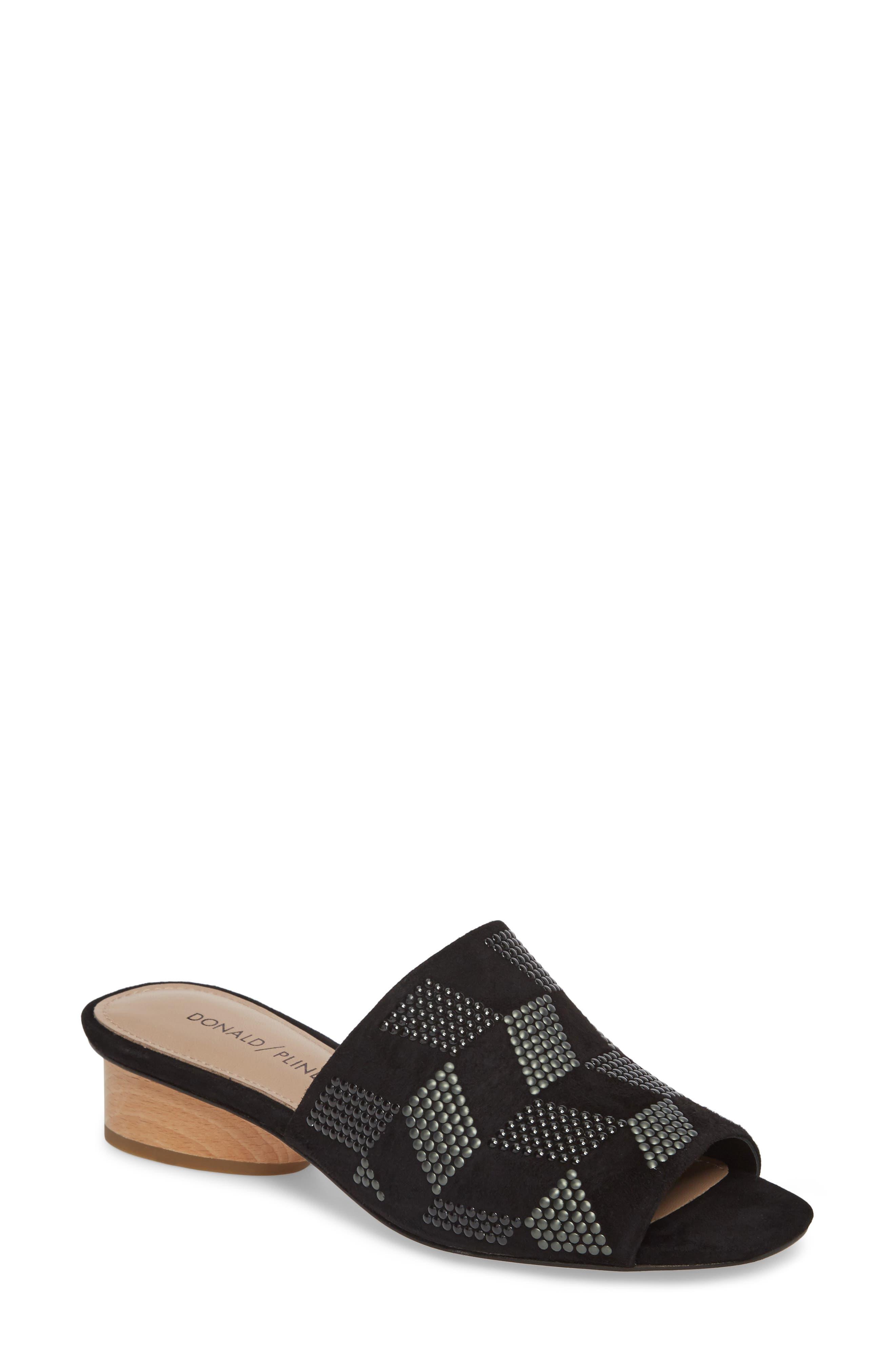 Rimini Slide Sandal,                             Main thumbnail 1, color,                             Black Suede
