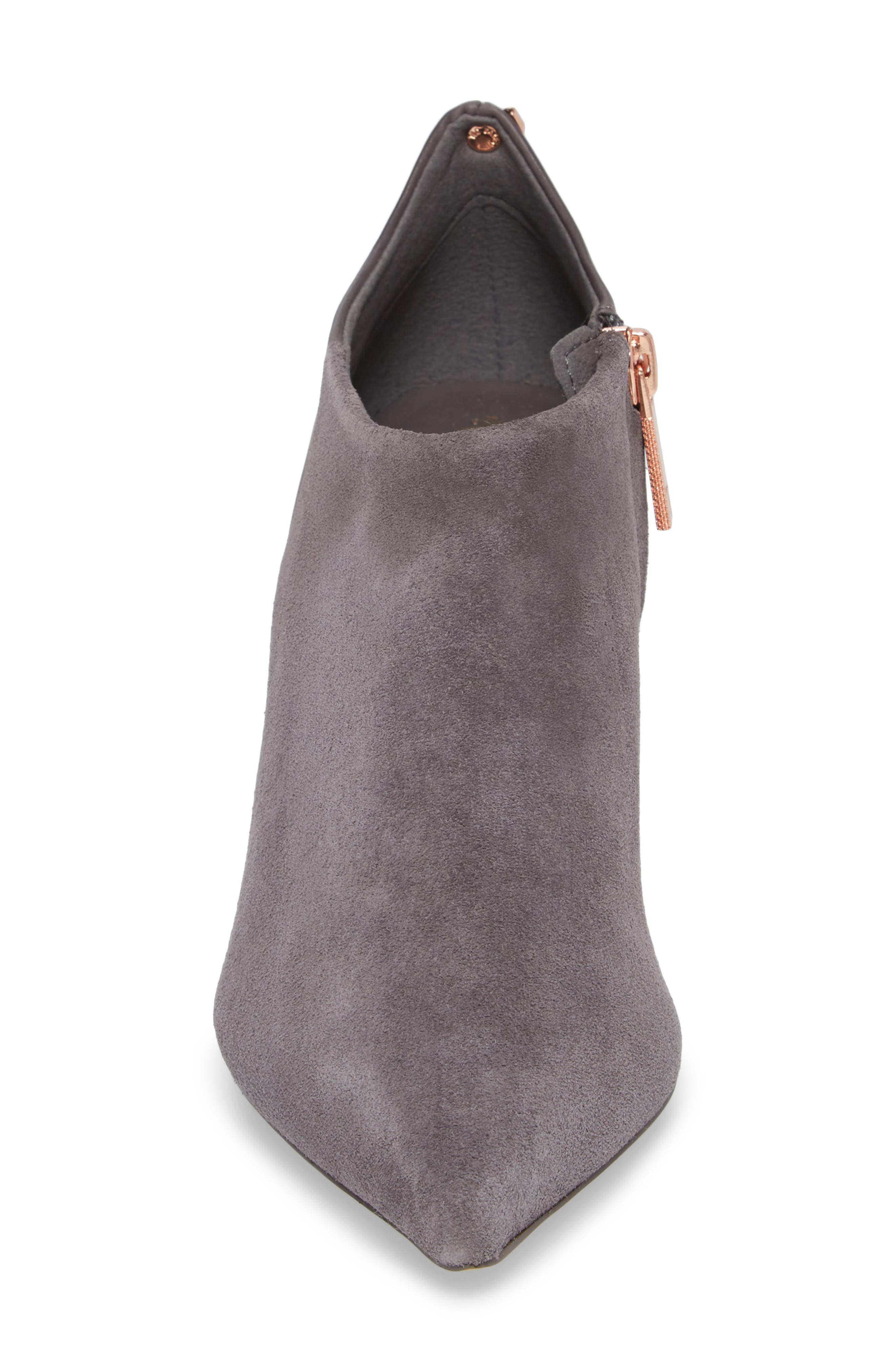Akasher Bootie,                             Alternate thumbnail 4, color,                             Grey Suede