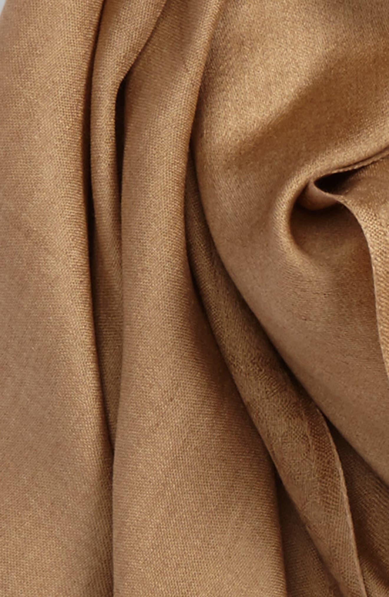 Upupa Silk Scarf,                             Alternate thumbnail 3, color,                             Camel
