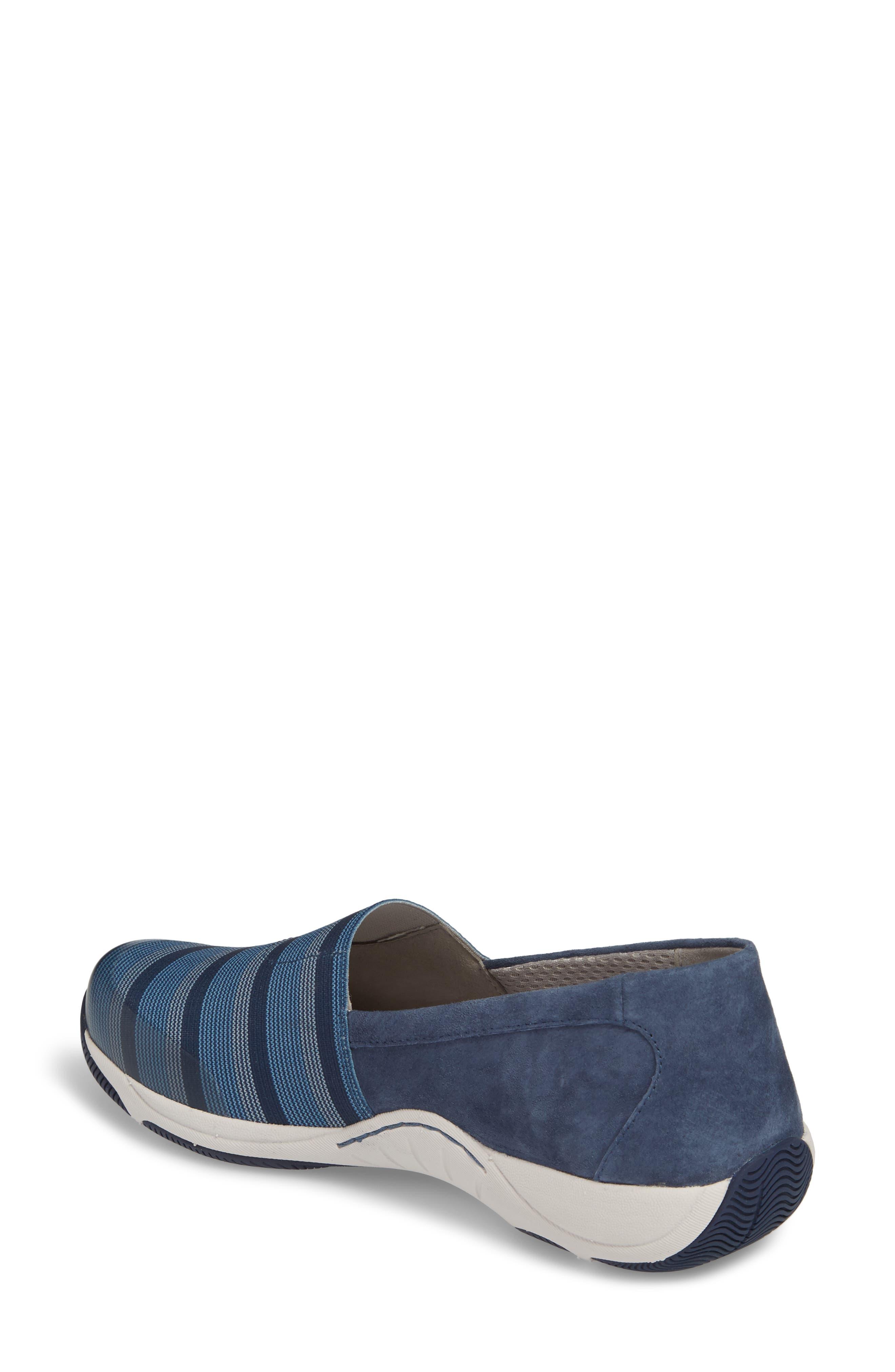 Harriet Slip-On Sneaker,                             Alternate thumbnail 2, color,                             Blue Suede