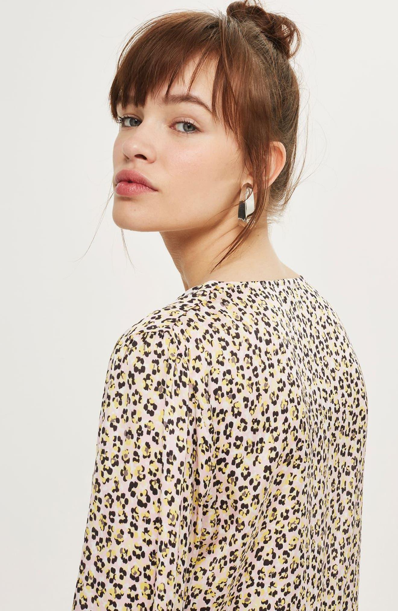 Alternate Image 3  - Topshop Leopard Print Tie Front Blouse