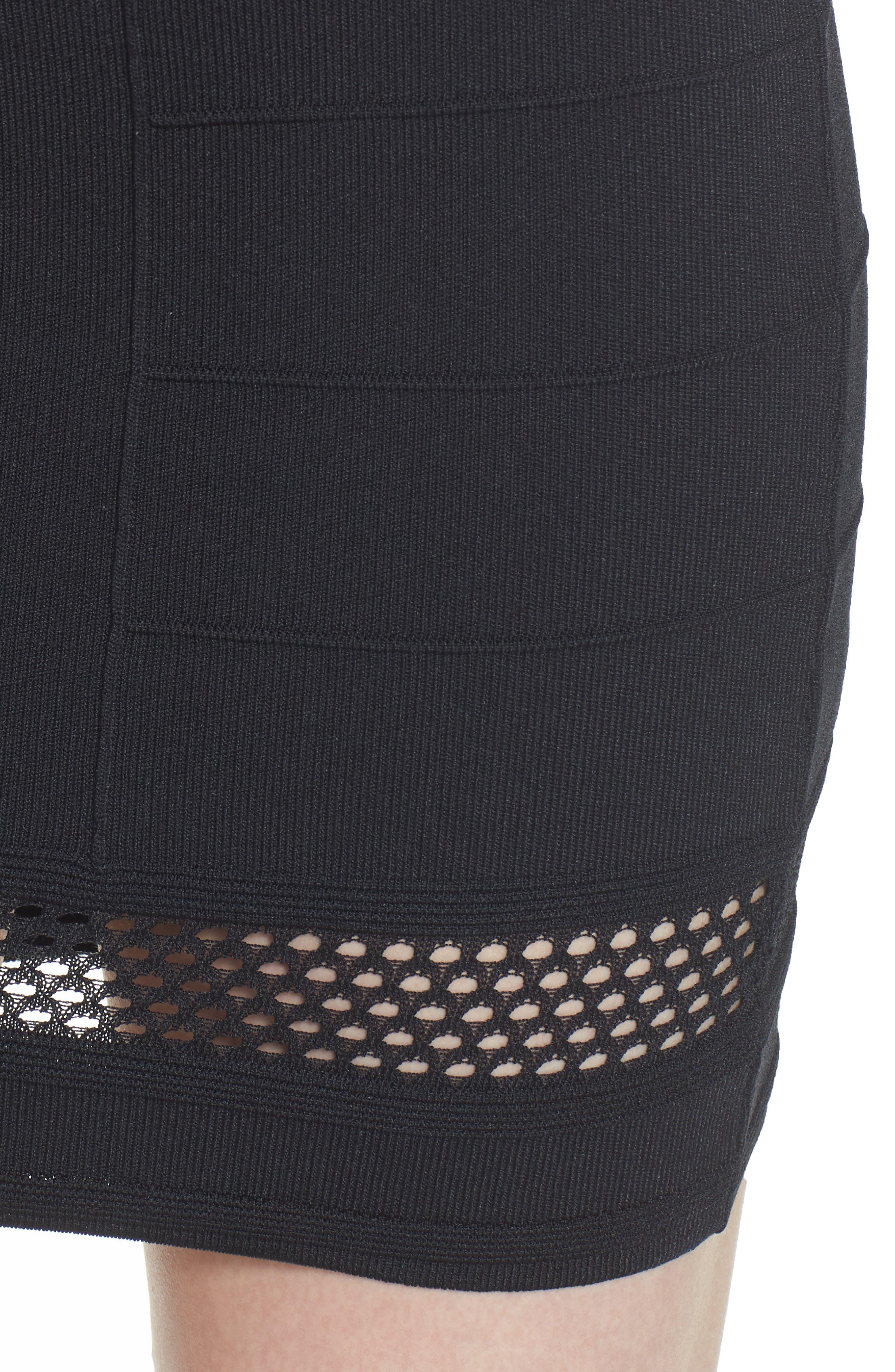 Bishop + Young Siena Peekaboo Skirt,                             Alternate thumbnail 4, color,                             Black