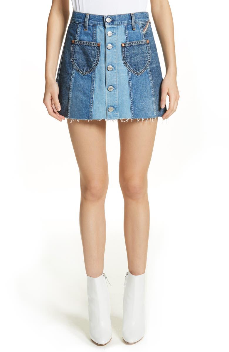 Eloise High Rise Denim Miniskirt