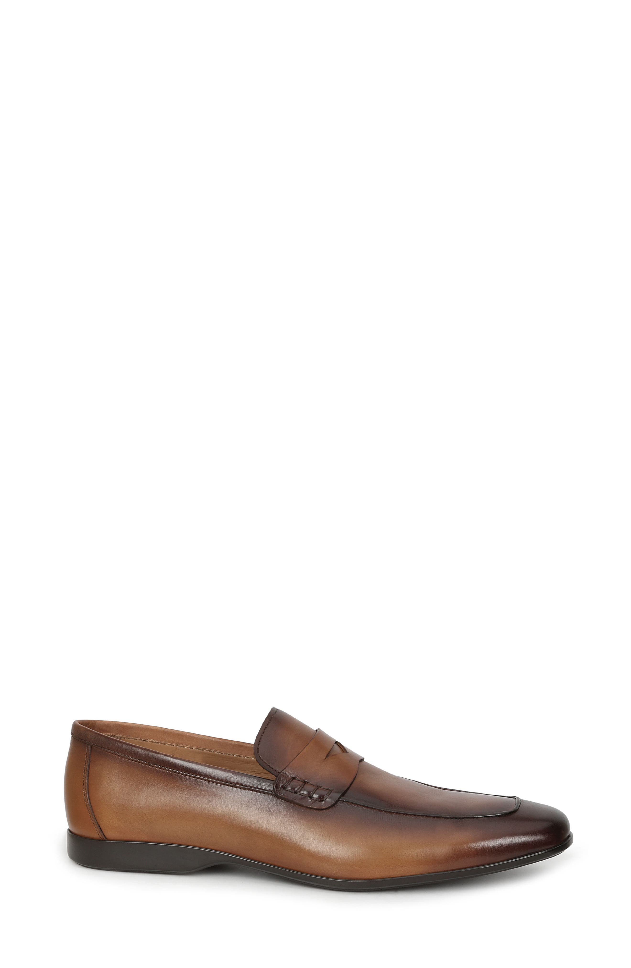 Margot Penny Loafer,                             Alternate thumbnail 3, color,                             Cognac