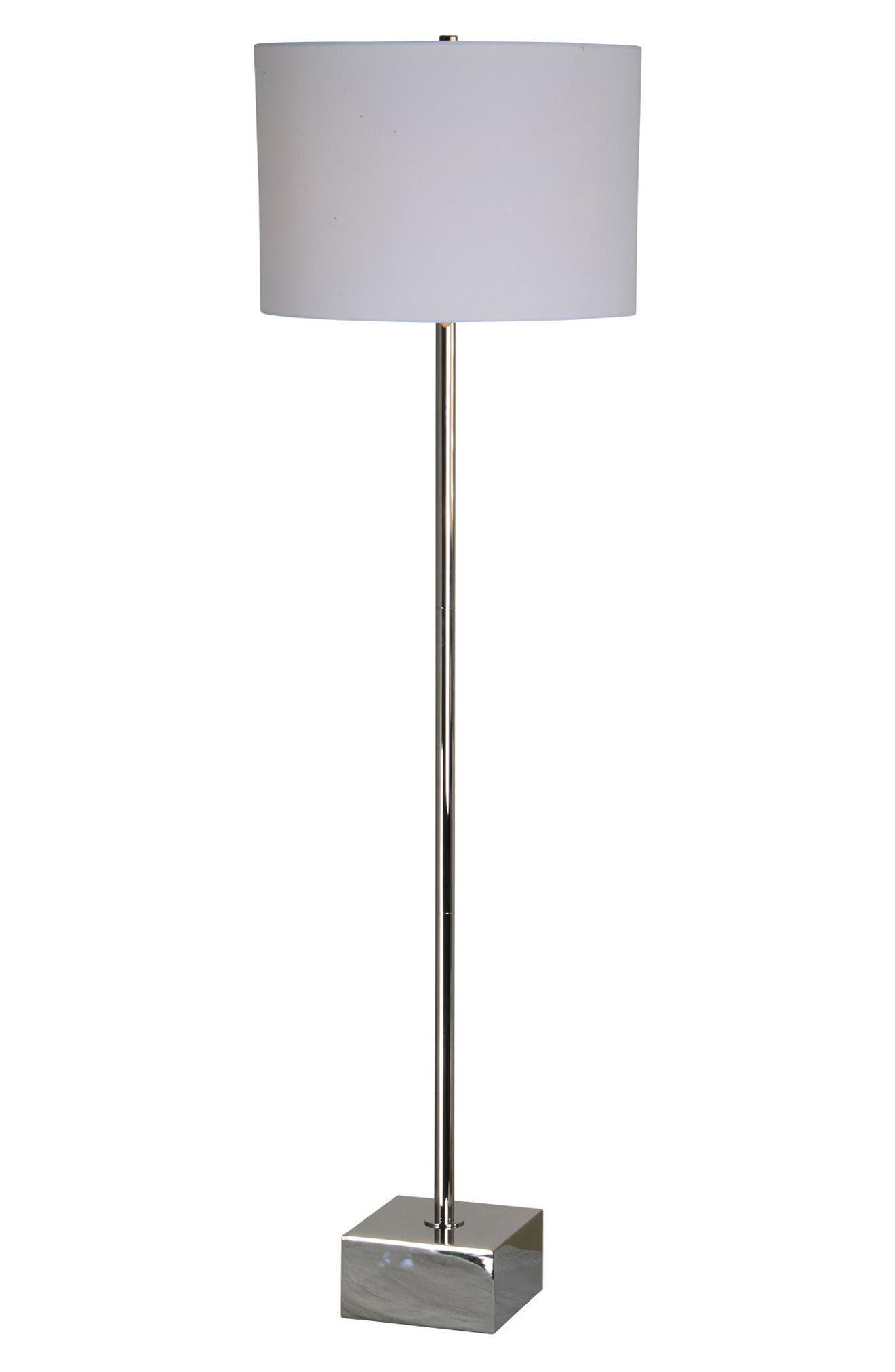 Thalia Chrome Floor Lamp,                             Alternate thumbnail 2, color,                             Chrome