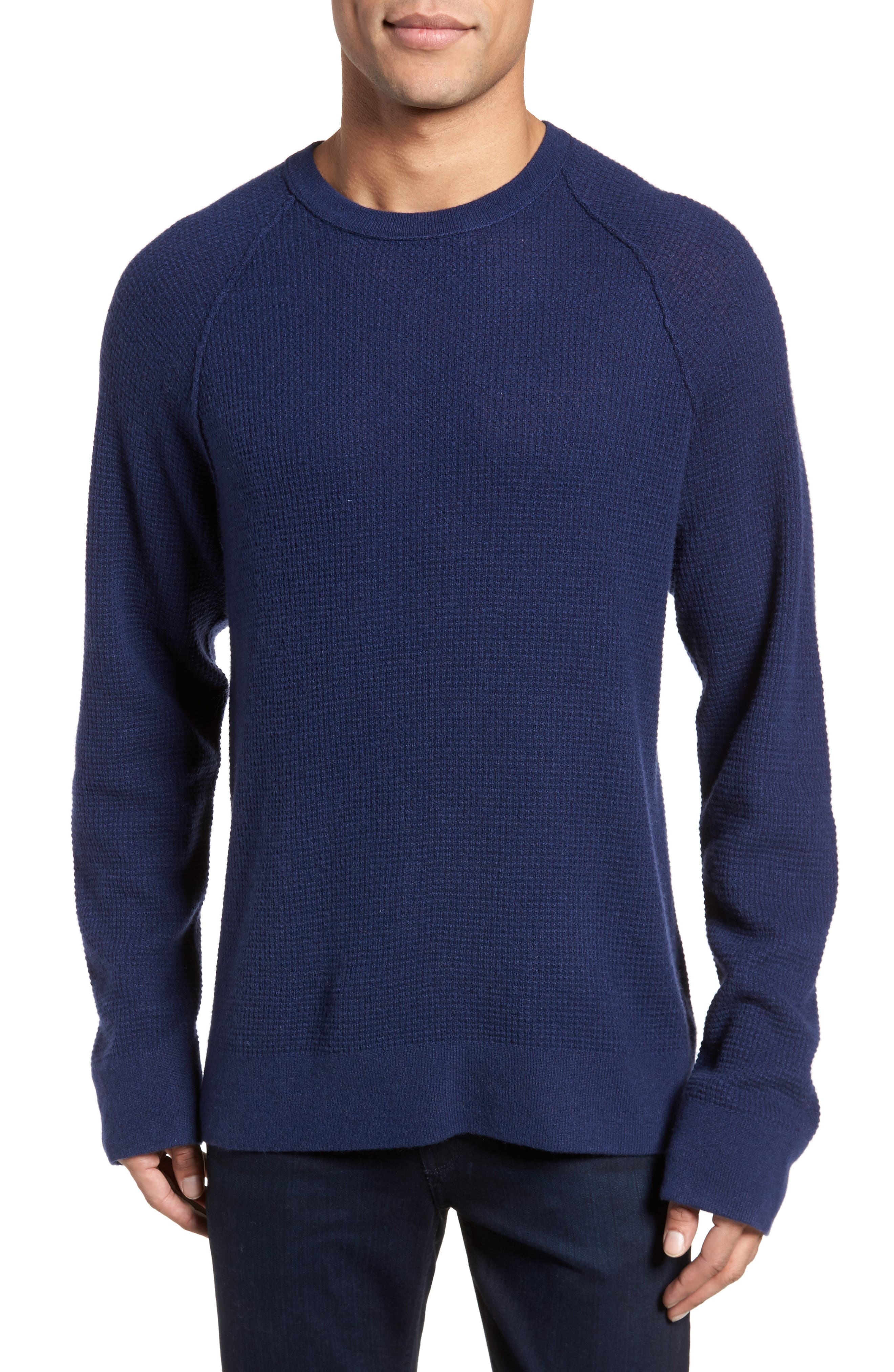 Thermal Cashmere Sweater,                         Main,                         color, Blue