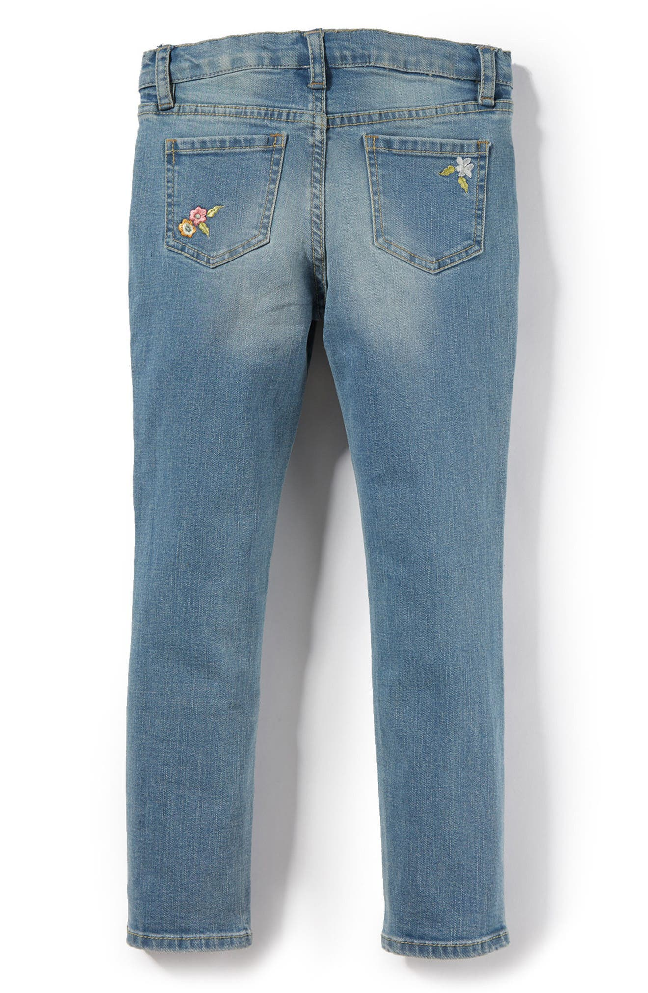 Taylor Embroidered Skinny Jeans,                             Alternate thumbnail 2, color,                             Medium Authentic