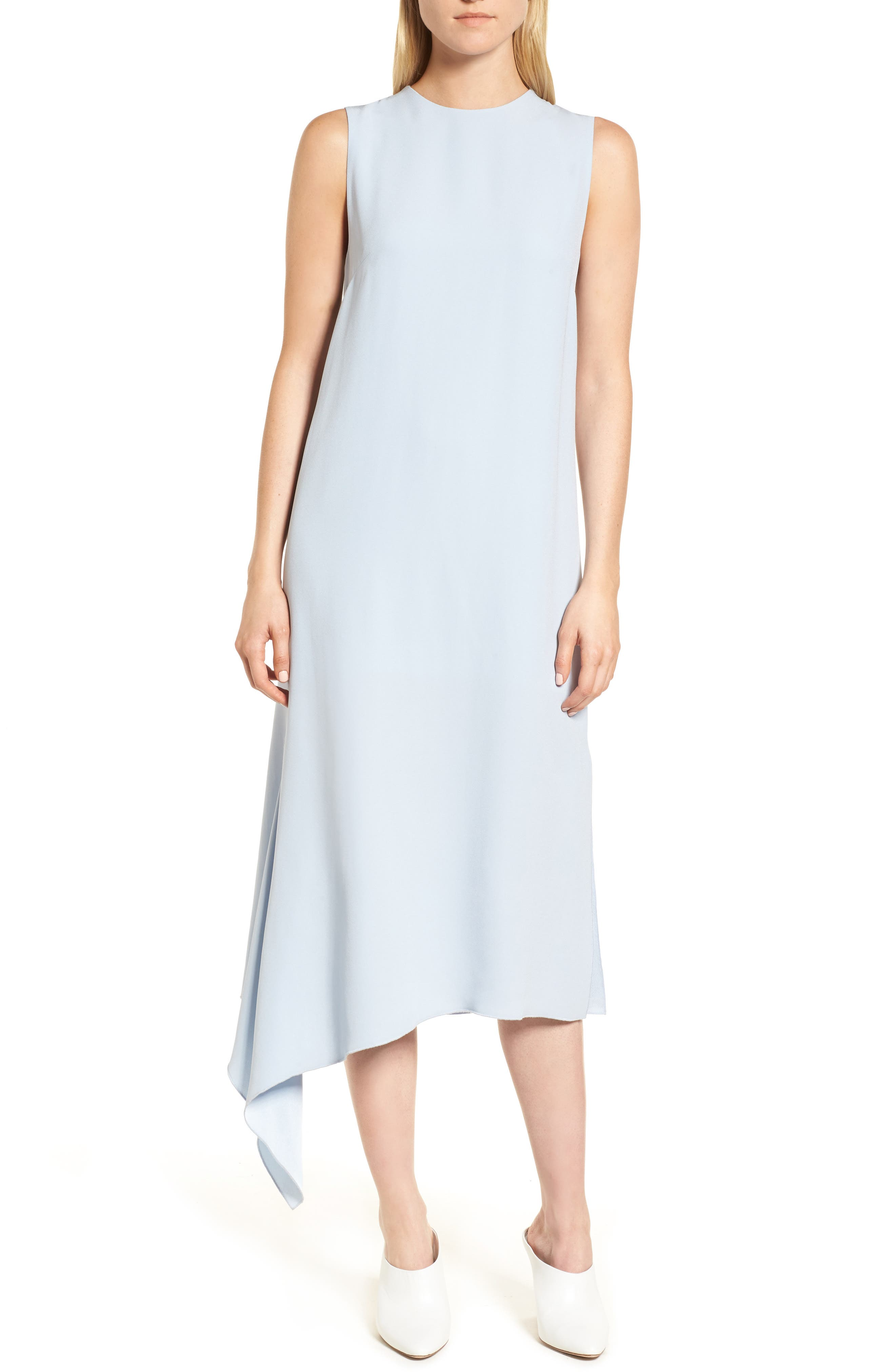 Lewit Side Drape Midi Dress