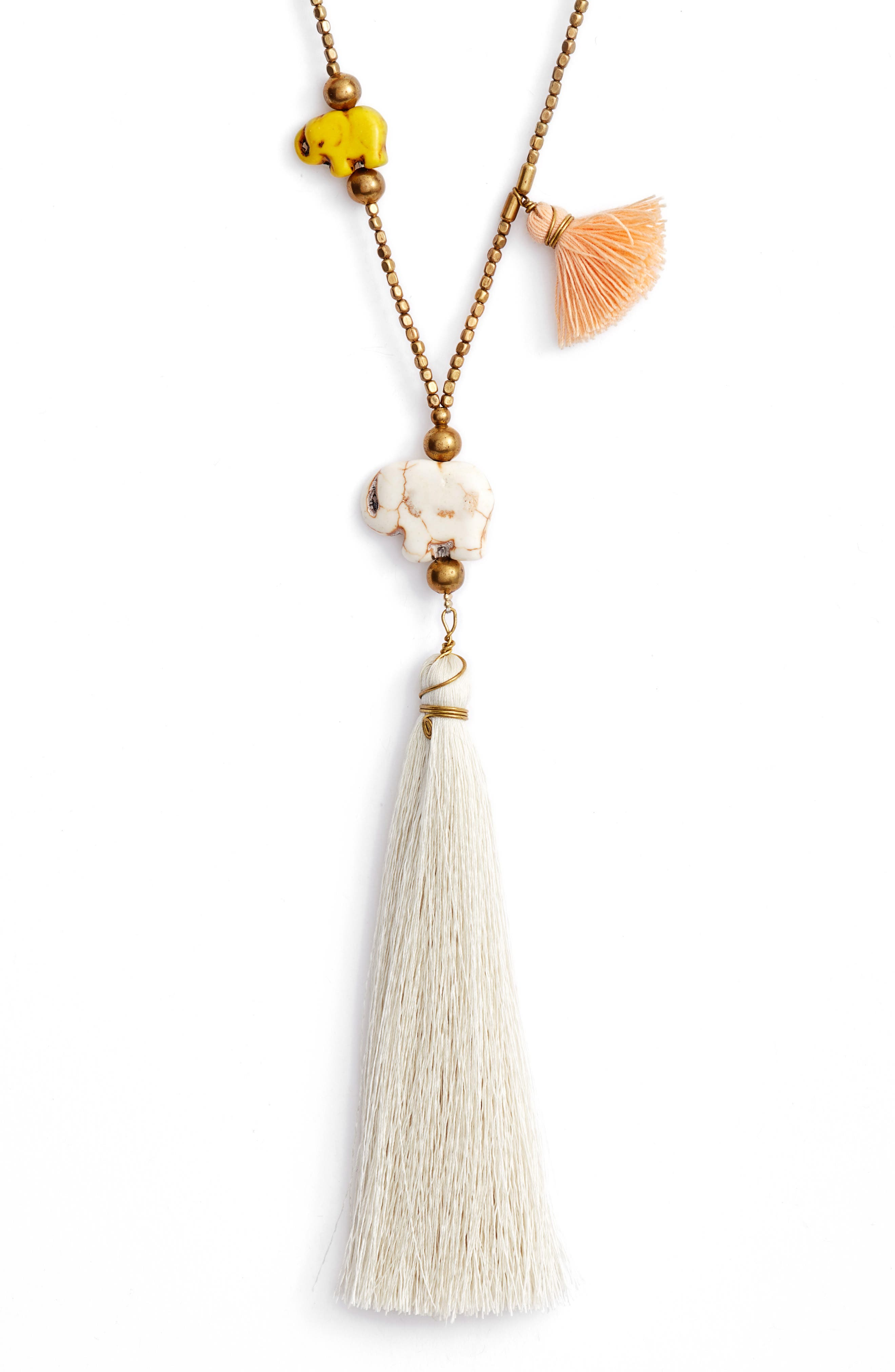 Tassel Necklace,                             Alternate thumbnail 2, color,                             Multi