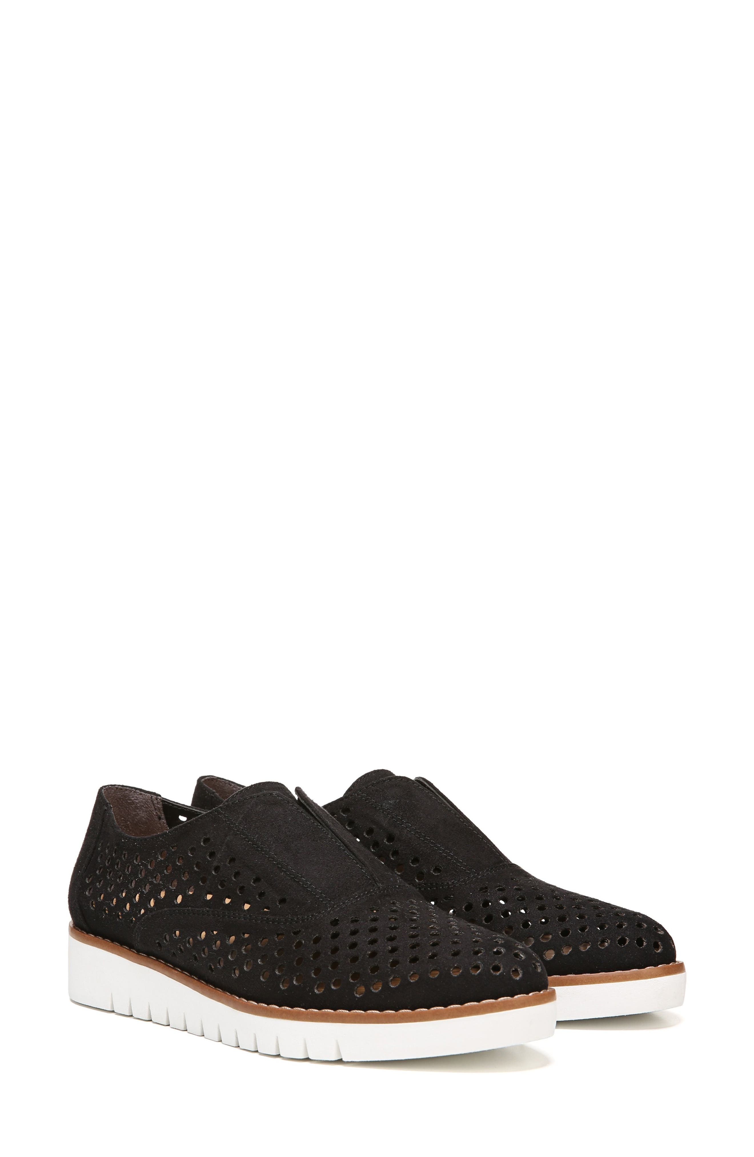 Improve Slip-On Sneaker,                             Alternate thumbnail 8, color,                             Black Fabric