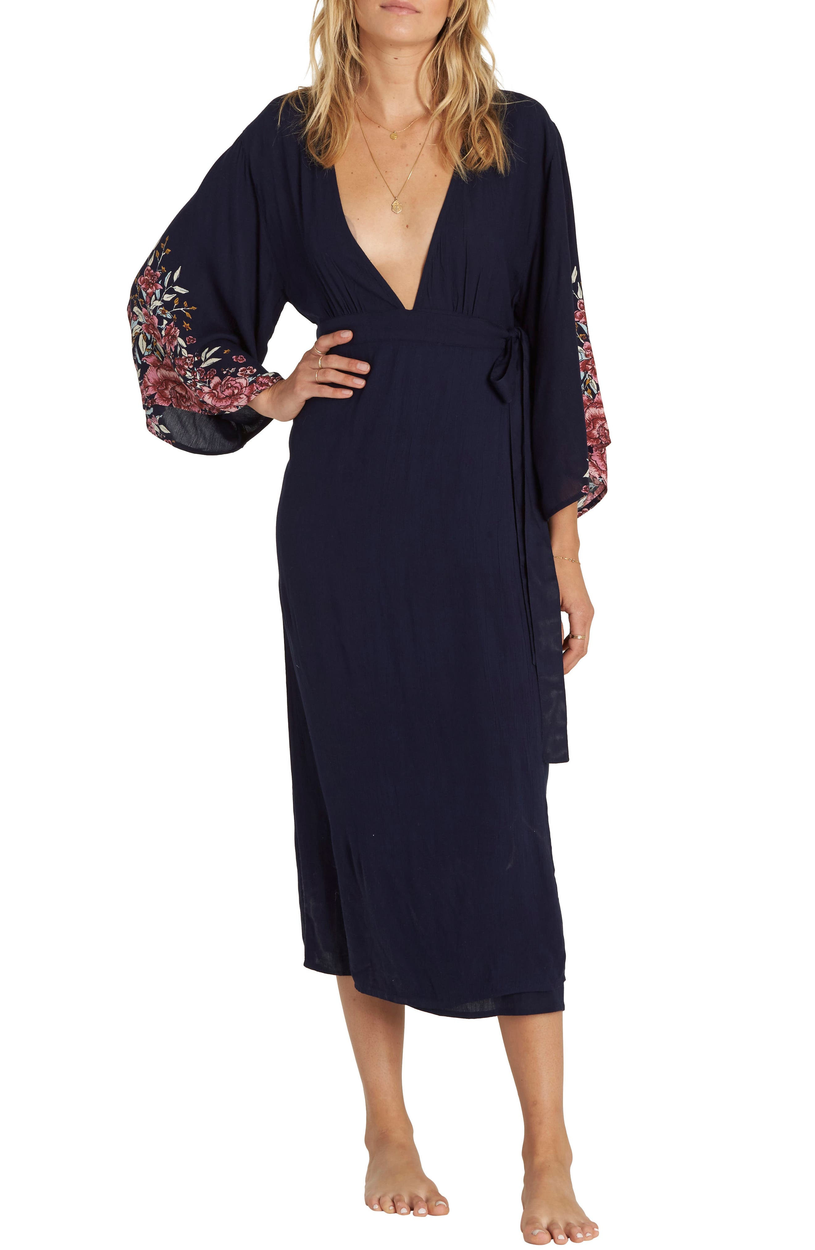Robe Life Midi Dress,                             Main thumbnail 1, color,                             Deep Sea