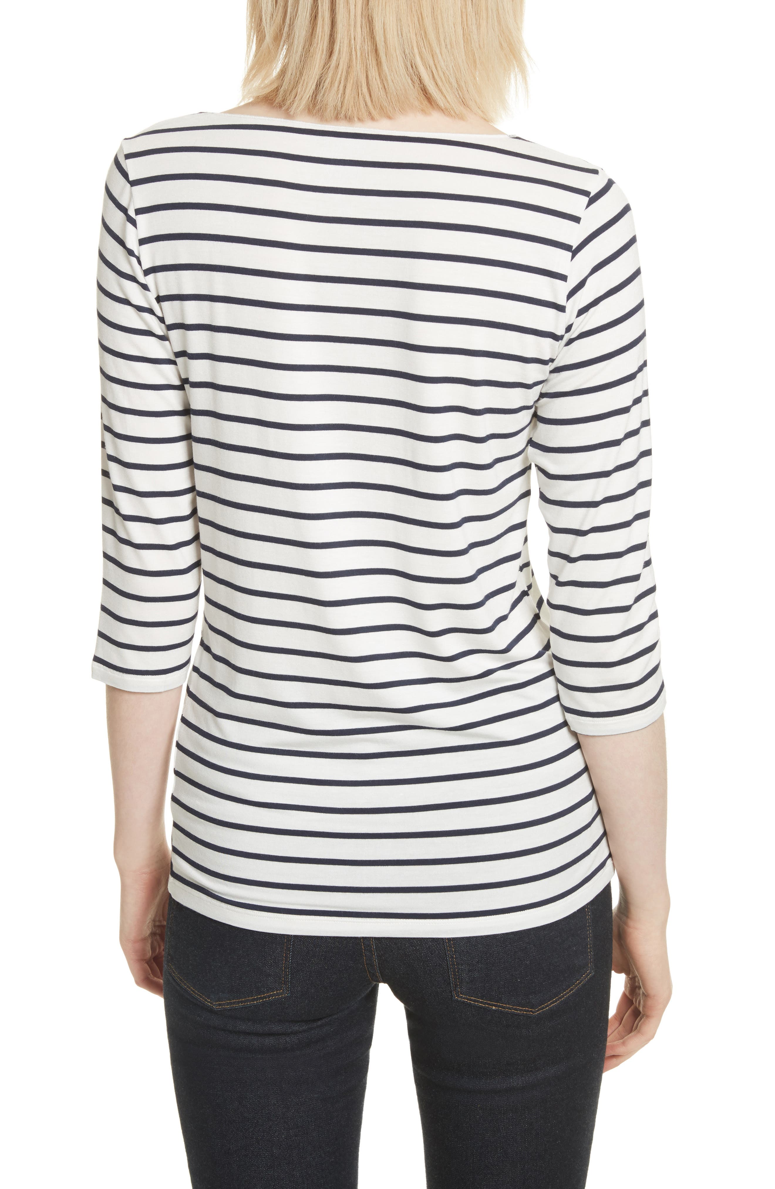 Alternate Image 2  - Majestic Filatures Stripe Boat Neck Shirt