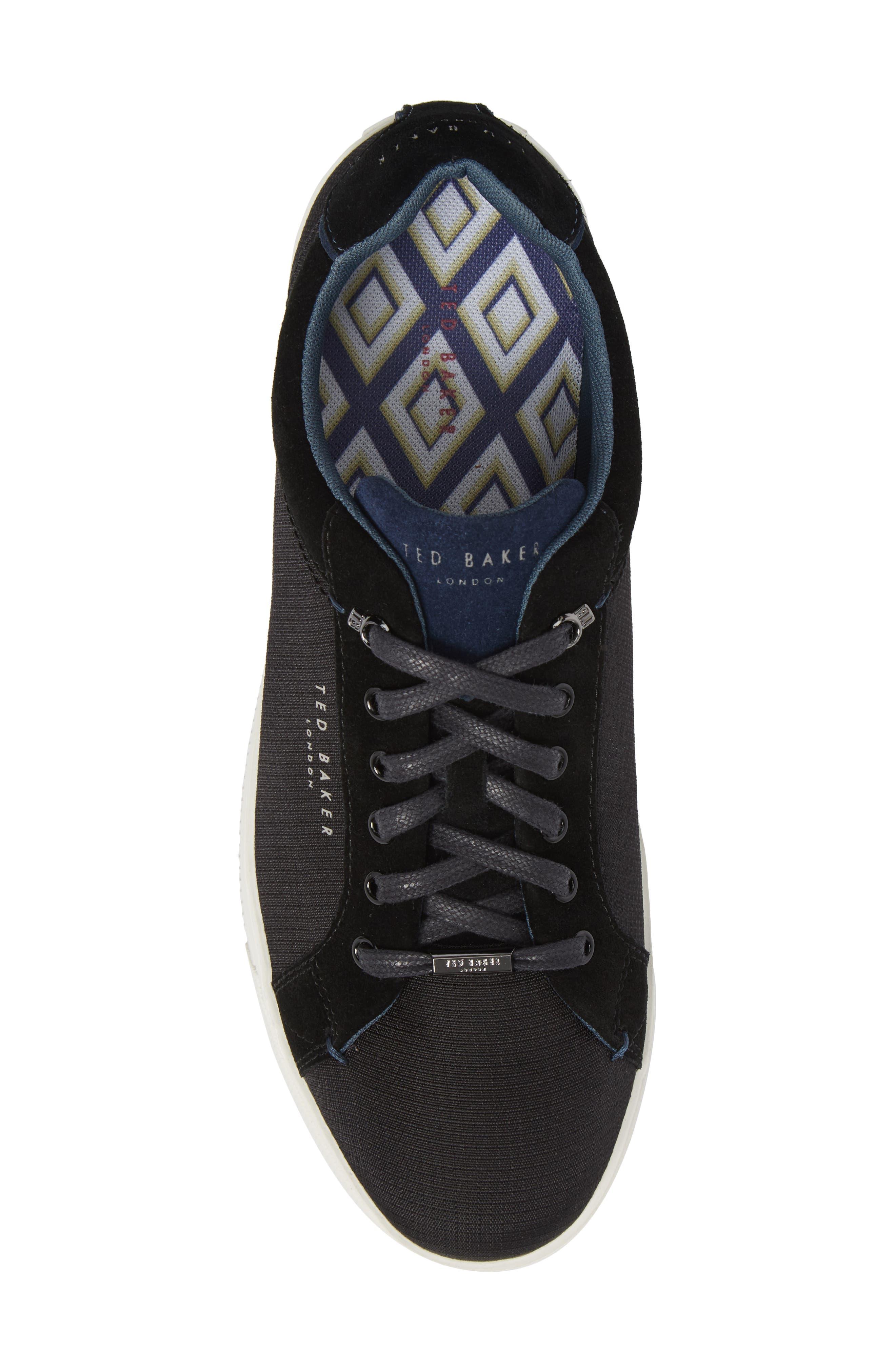 Klemes Sneaker,                             Alternate thumbnail 5, color,                             Black Textile