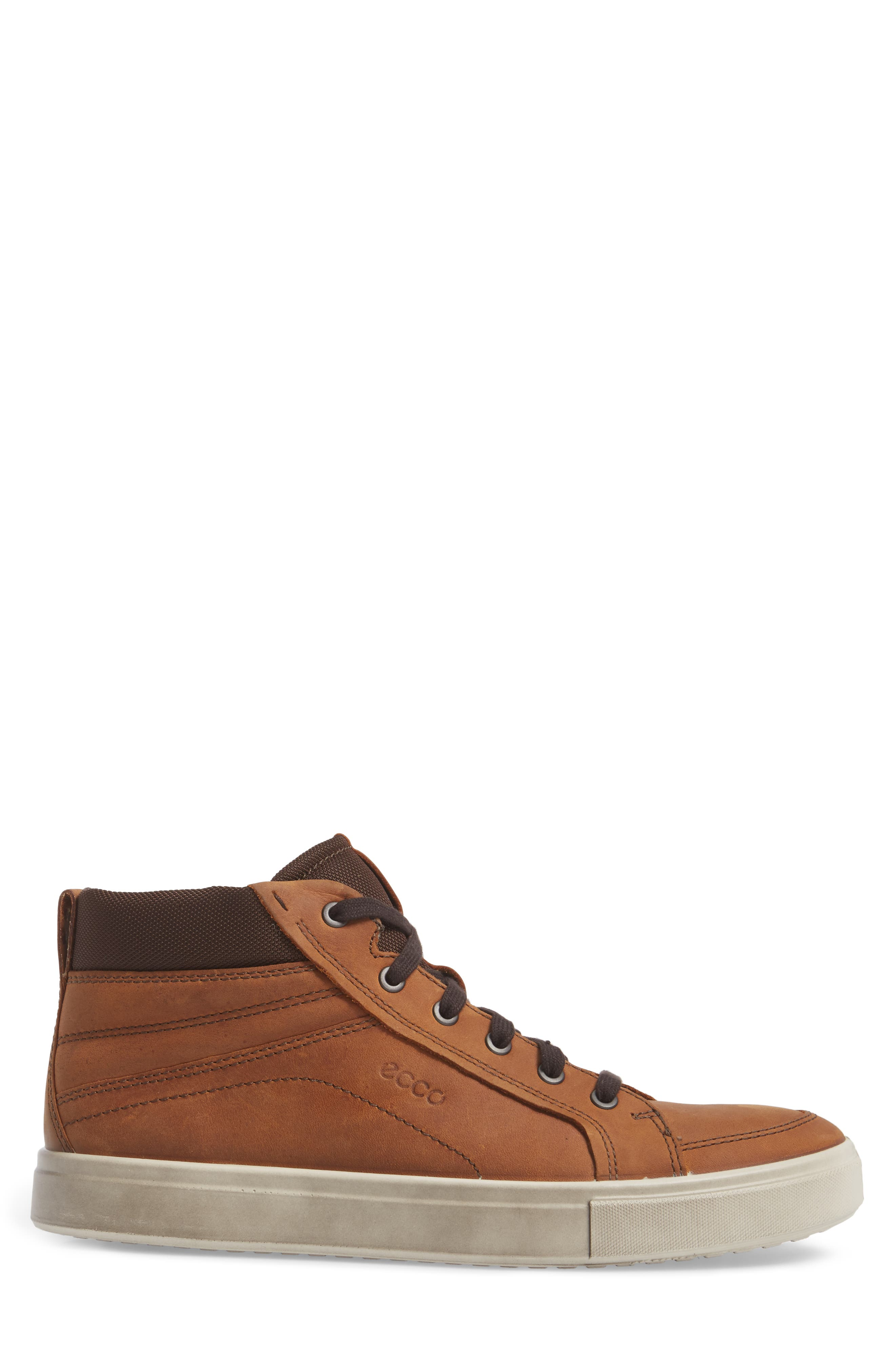 Kyle Sneaker,                             Alternate thumbnail 3, color,                             Amber Leather