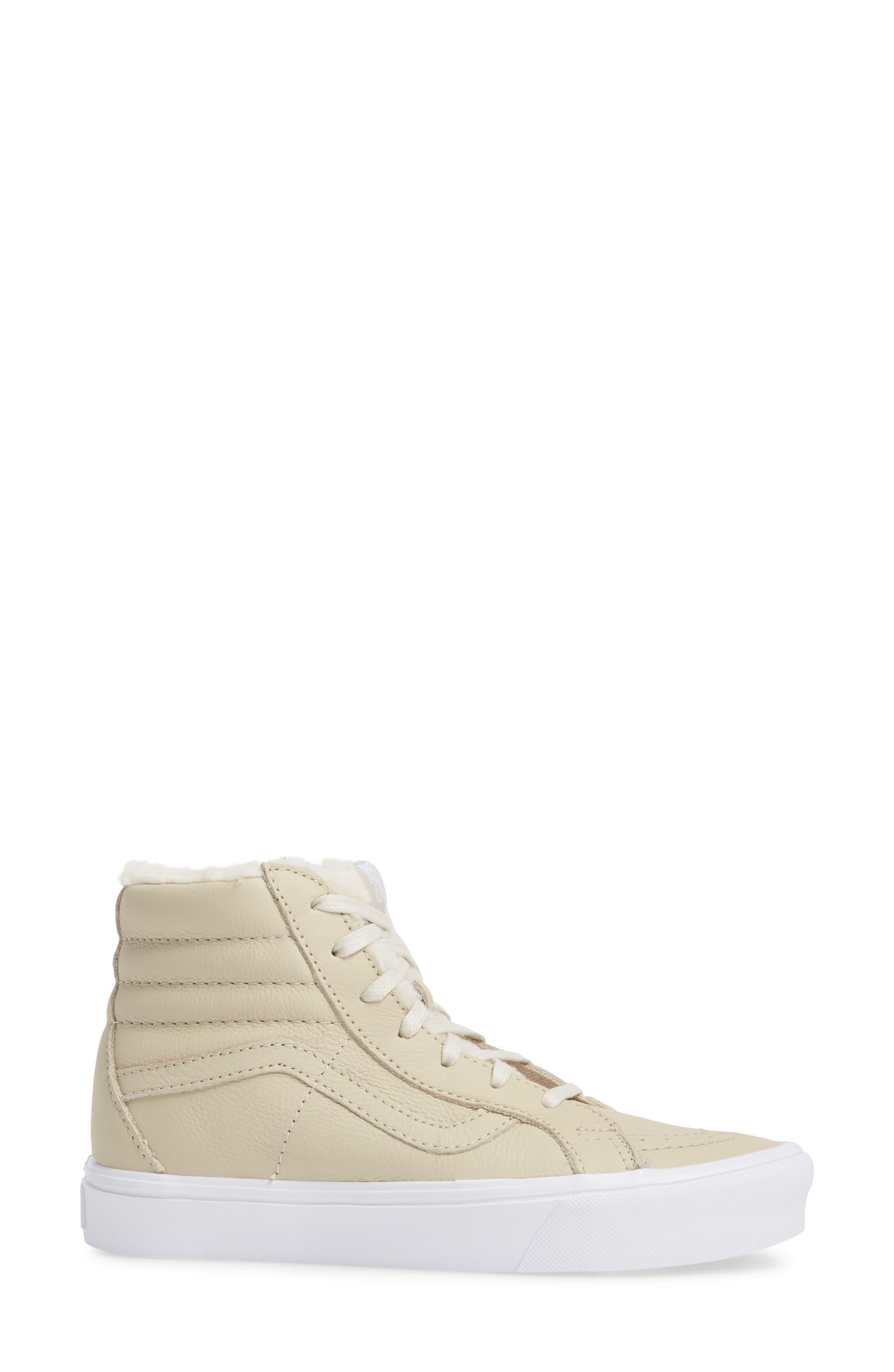 Sk8-Hi Reissue Lite High Top Sneaker,                             Alternate thumbnail 3, color,                             Cement/ True White