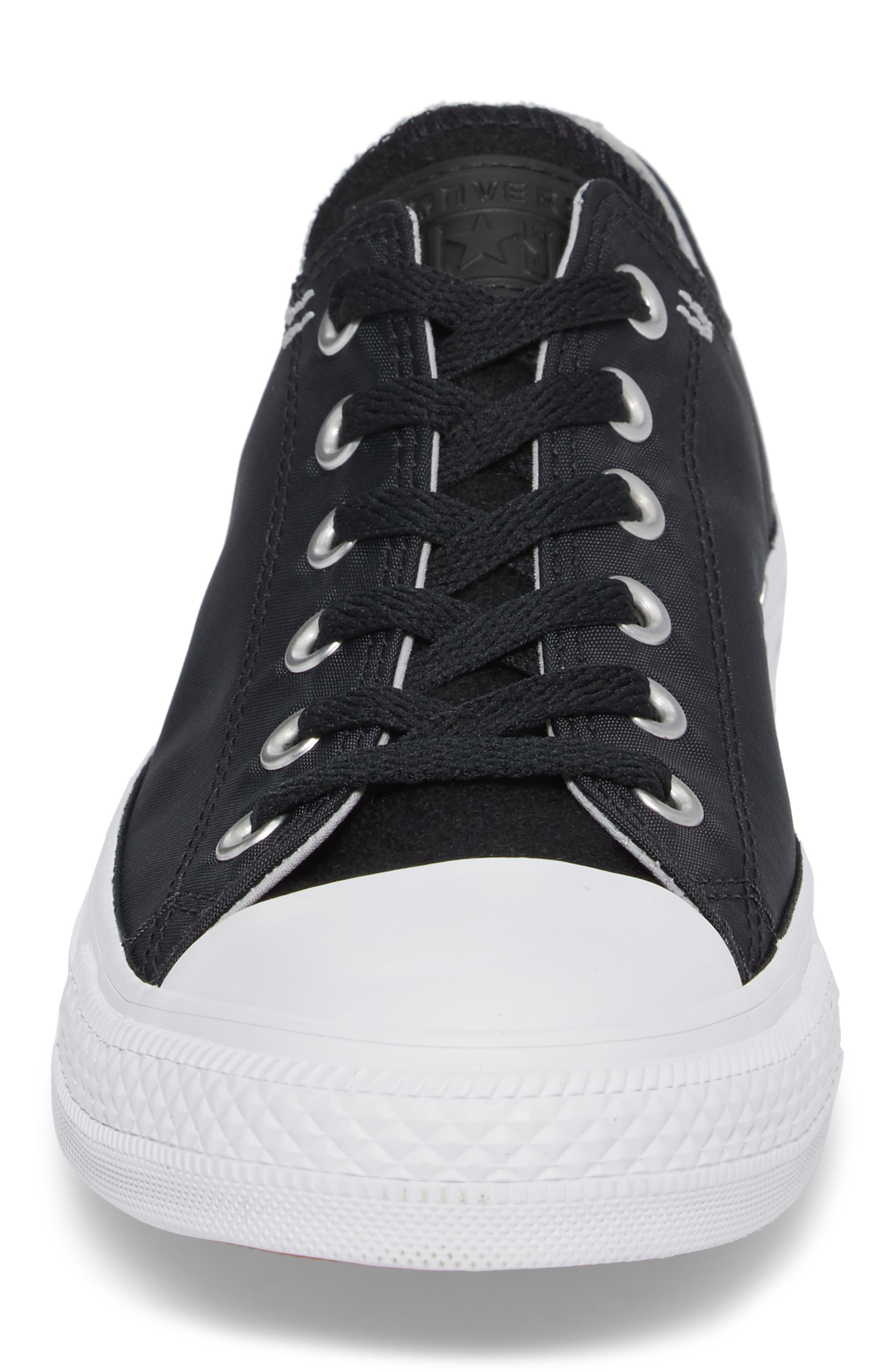 All Star<sup>®</sup> OX Low Top Sneaker,                             Alternate thumbnail 4, color,                             Black