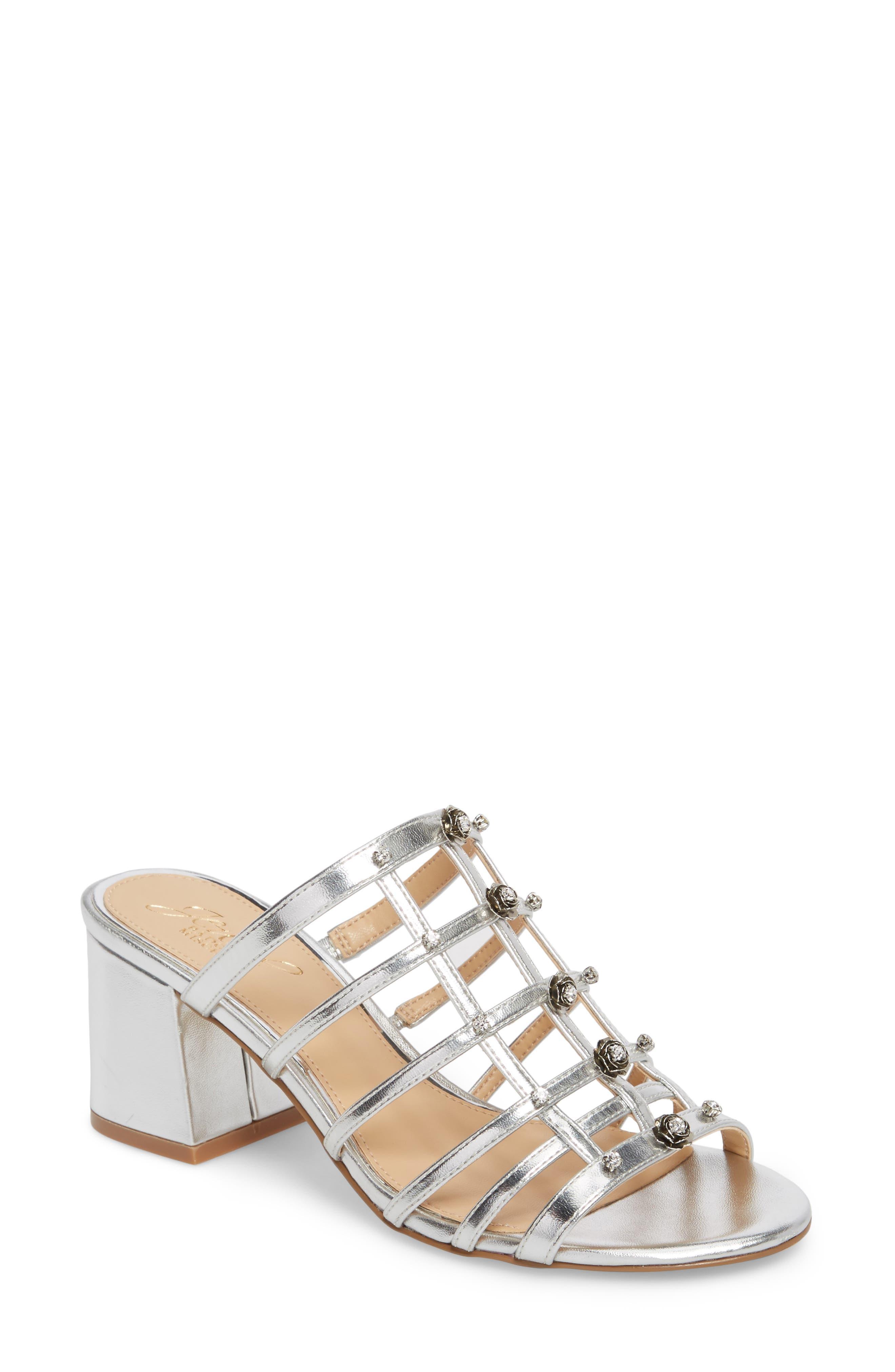 Alternate Image 1 Selected - Jewel Badgley Mischka Thorne Crystal Rose Embellished Slide Sandal (Women)