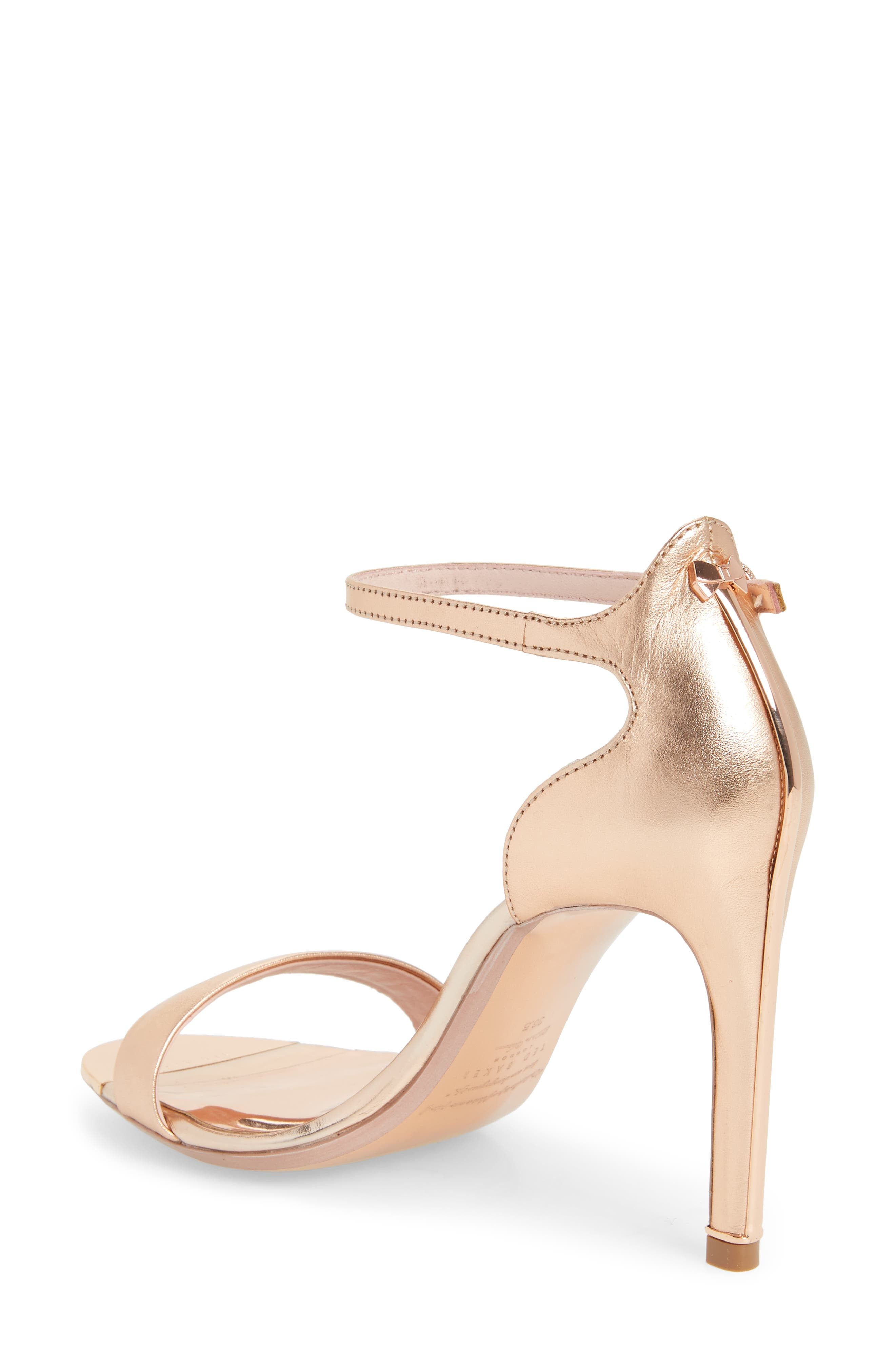 Sharlot Ankle Strap Sandal,                             Alternate thumbnail 2, color,                             Rose Gold Leather