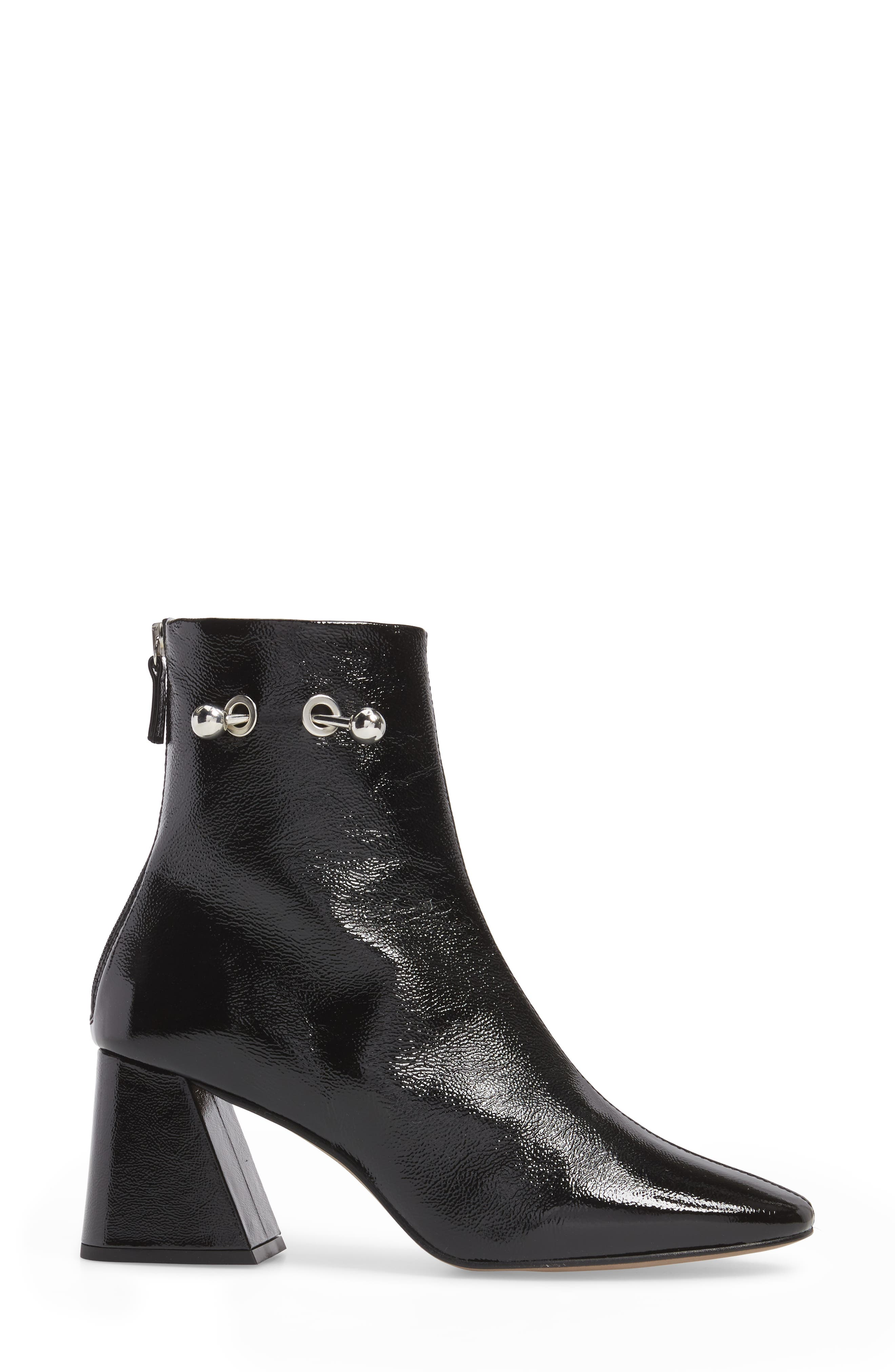 Mighty Flared Heel Bootie,                             Alternate thumbnail 3, color,                             Black