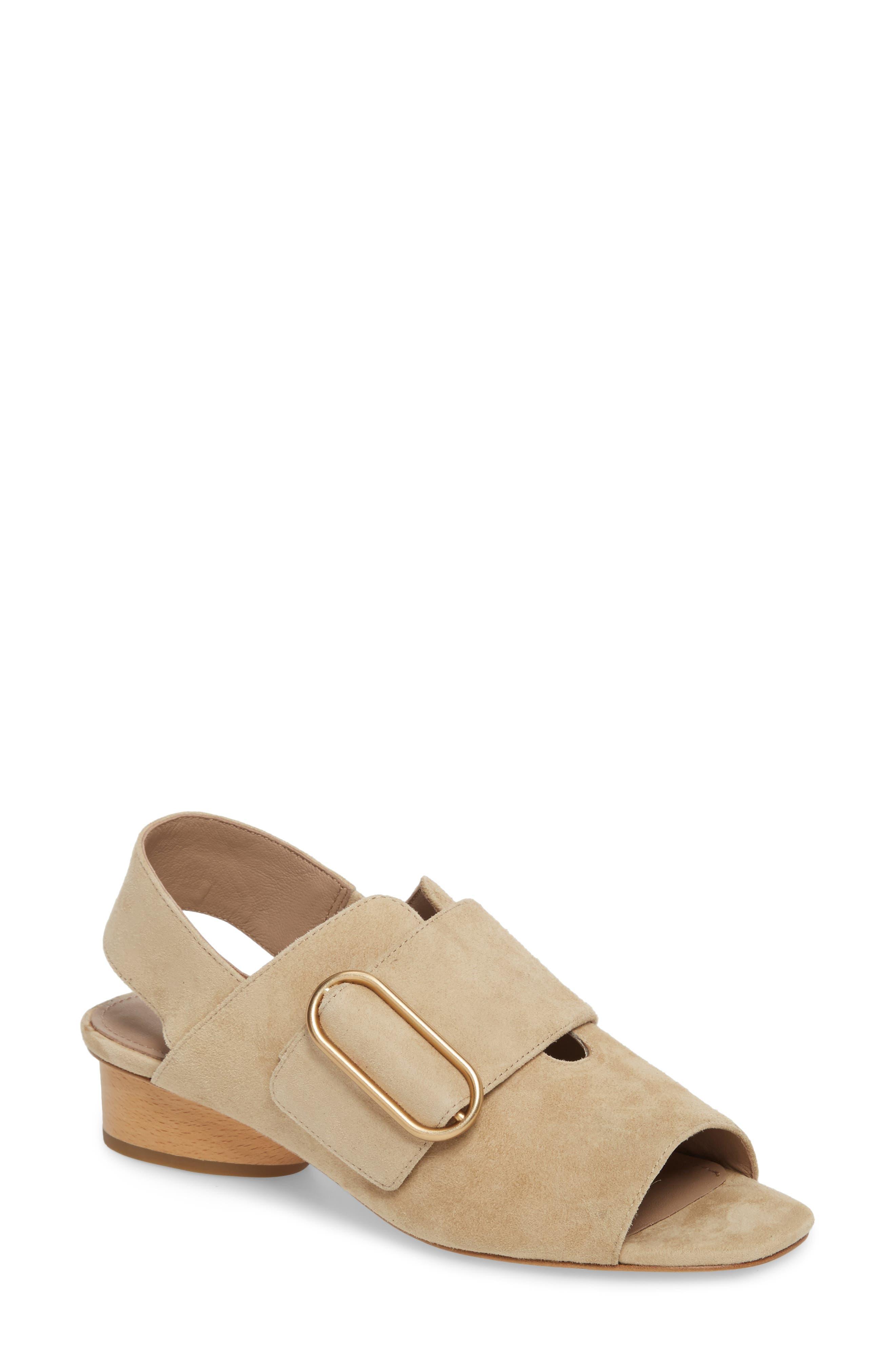 Randi Slingback Sandal,                         Main,                         color, Natural Suede