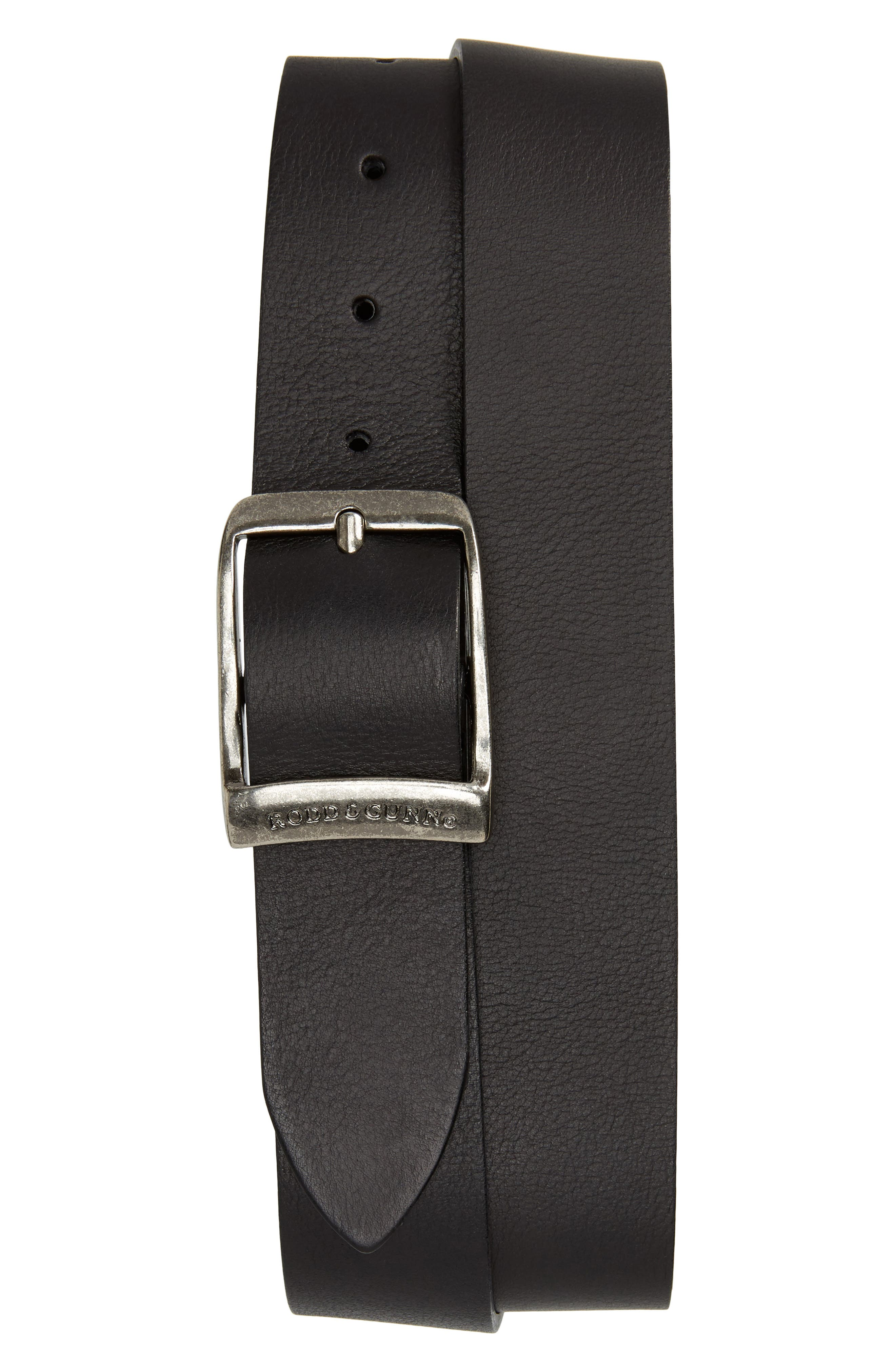 Cornonet Crescent Leather Belt,                             Main thumbnail 1, color,                             Nero
