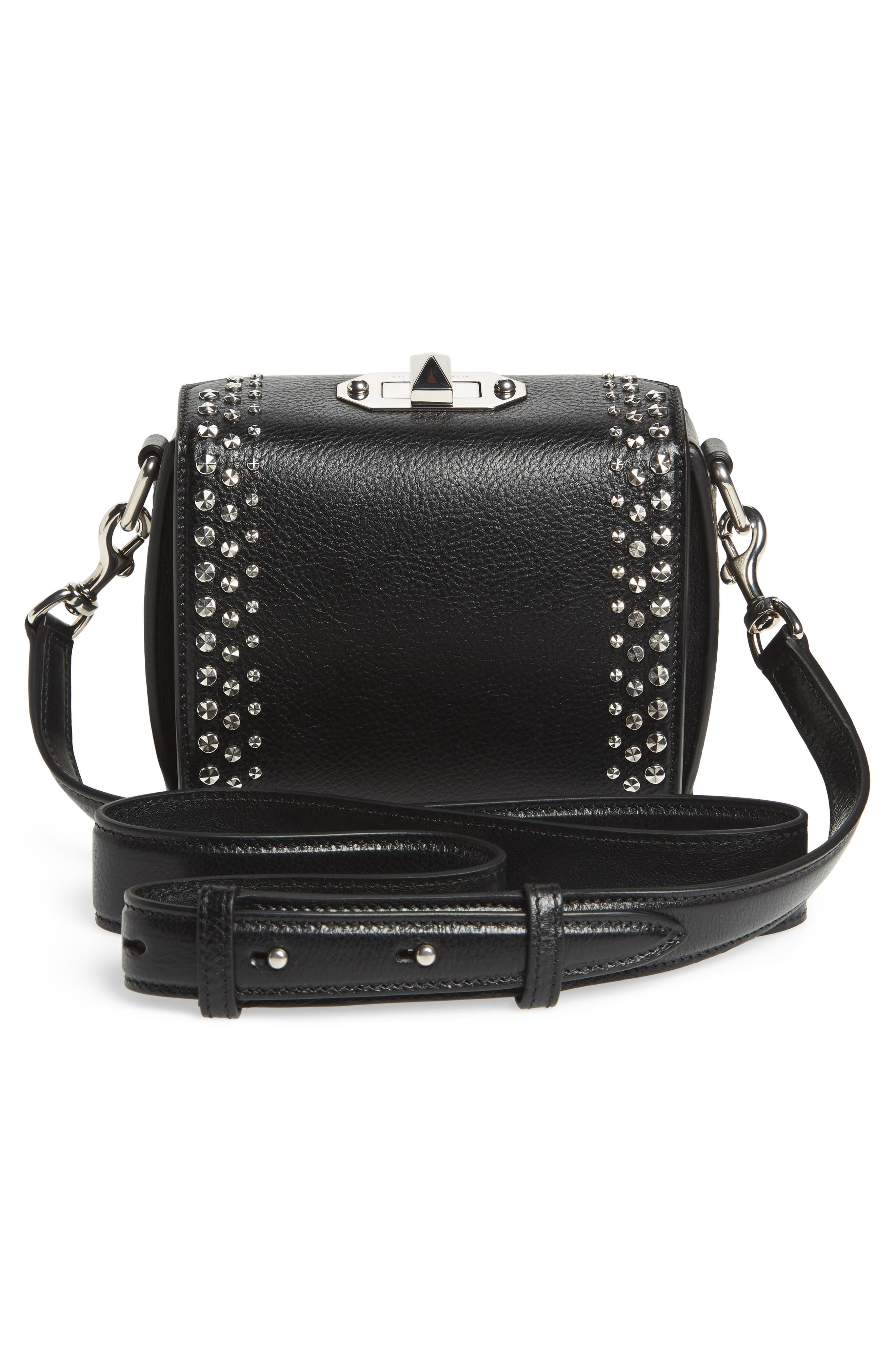 Alternate Image 3  - Alexander McQueen Box Bag 16 Studded Leather Bag