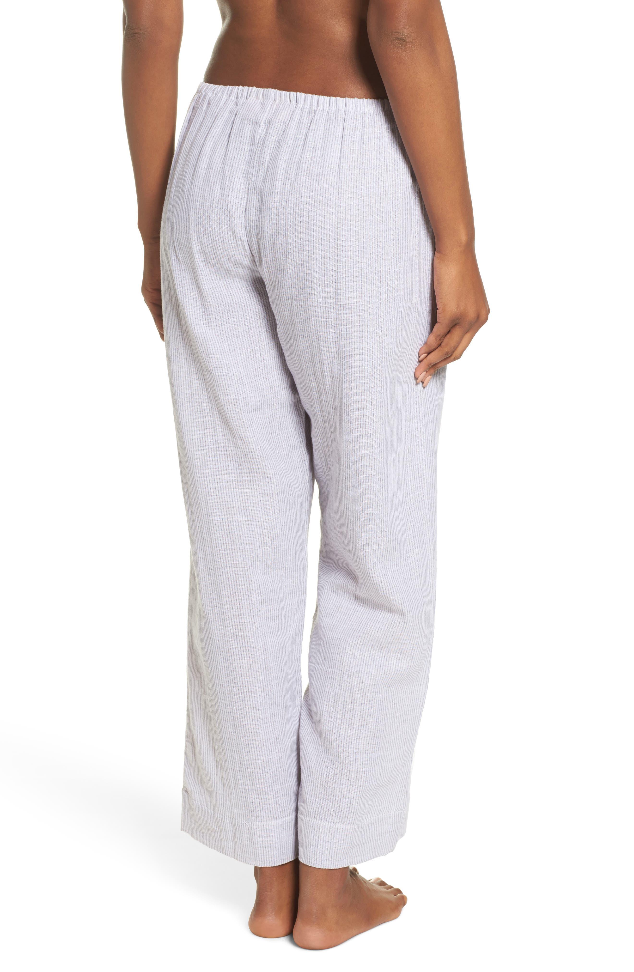Stripe Pajama Pants,                             Alternate thumbnail 2, color,                             Grey/ White