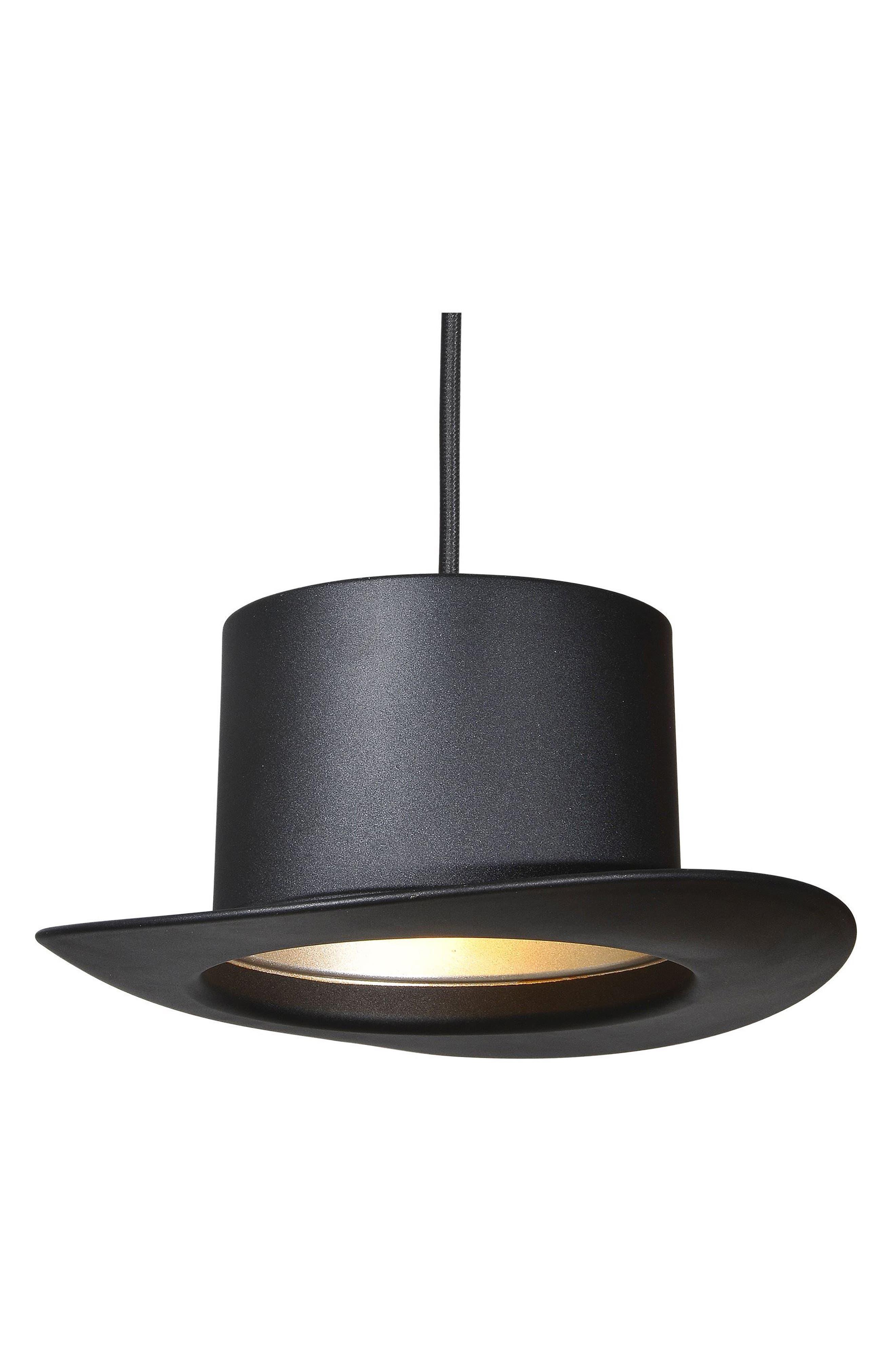 Langley Top Hat Ceiling Fixture,                             Alternate thumbnail 3, color,                             Black
