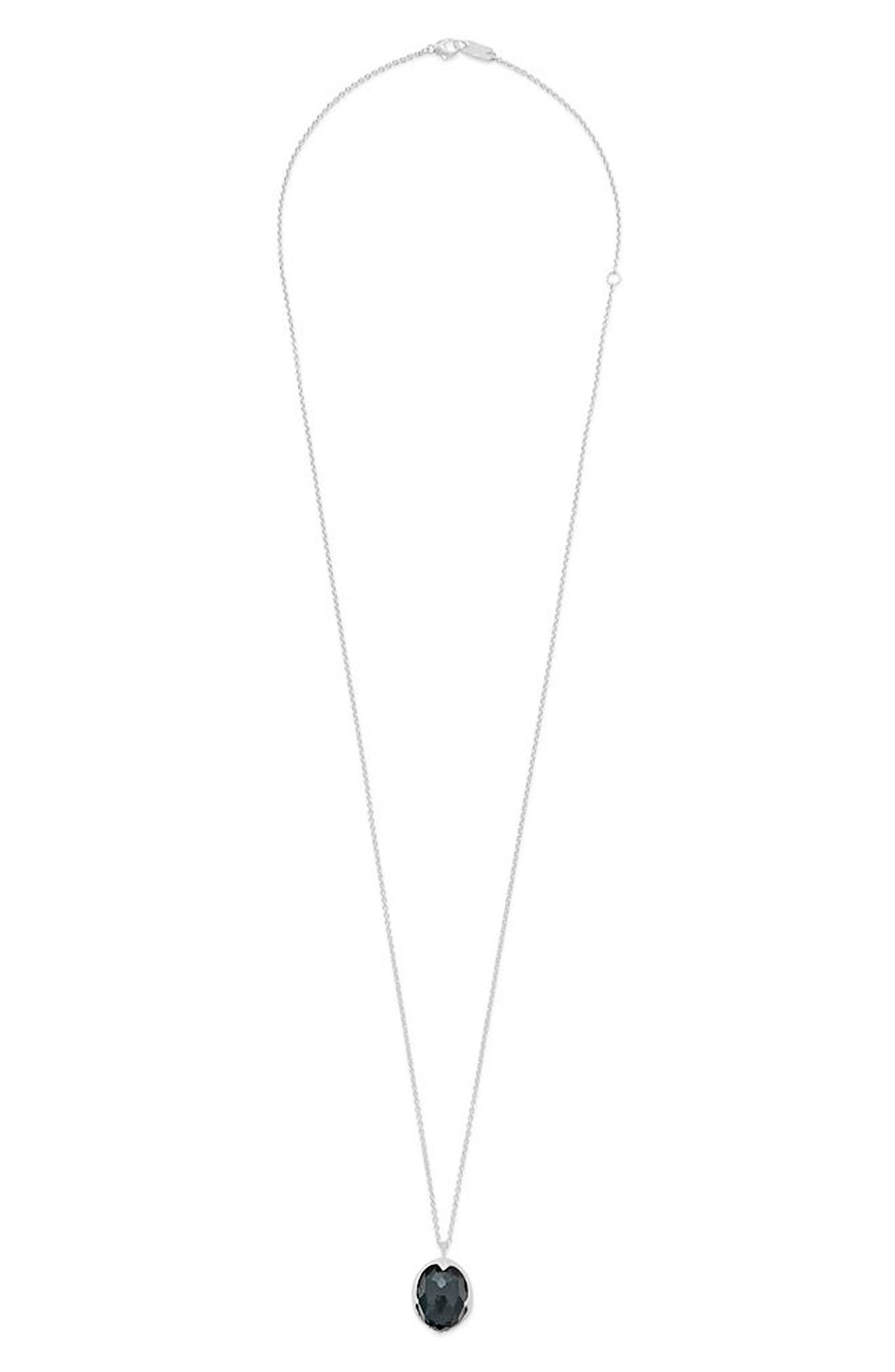 Rock Candy Long Pendant Necklace,                         Main,                         color, Silver