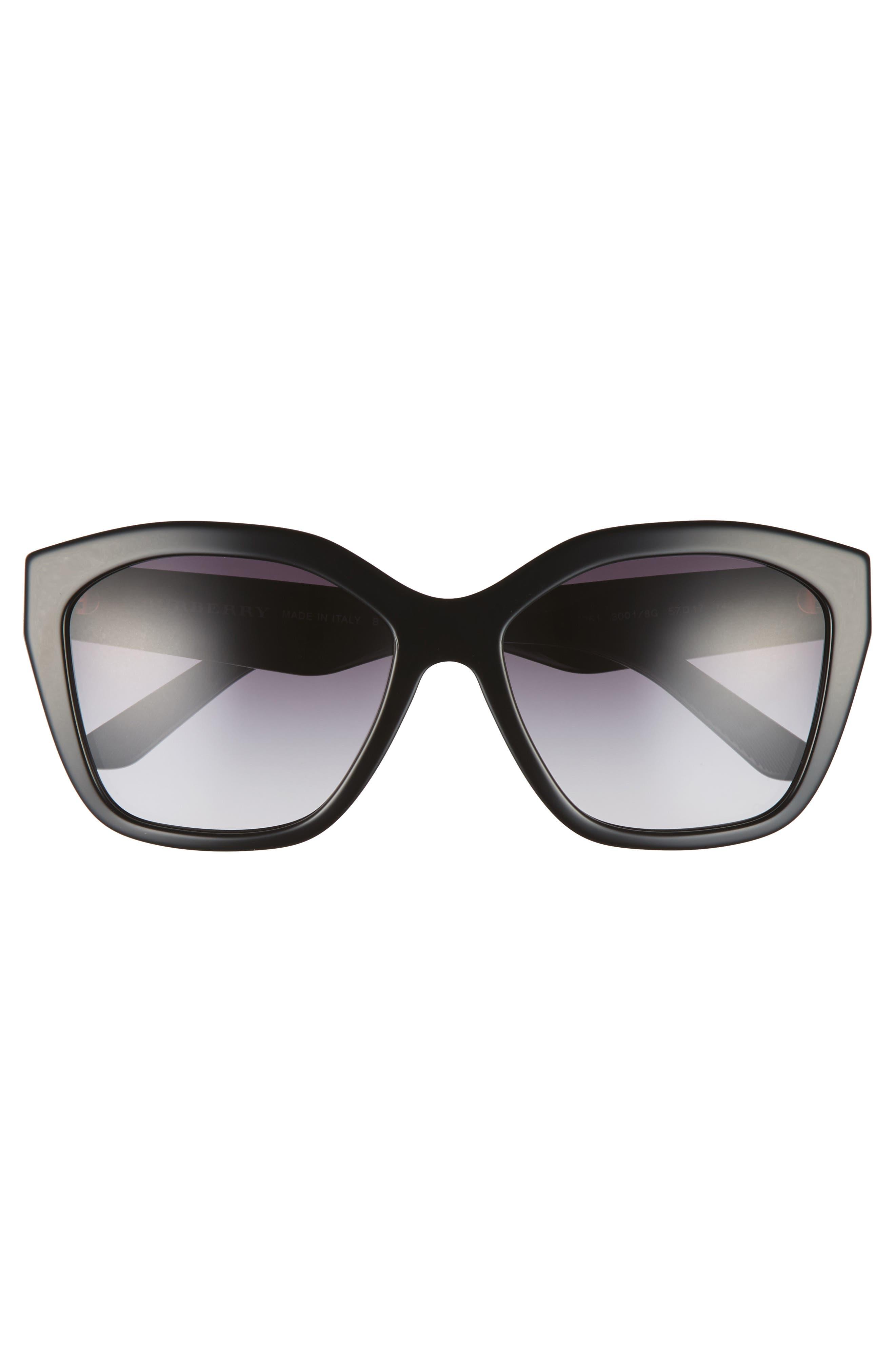 Alternate Image 3  - Burberry 57mm Gradient Sunglasses