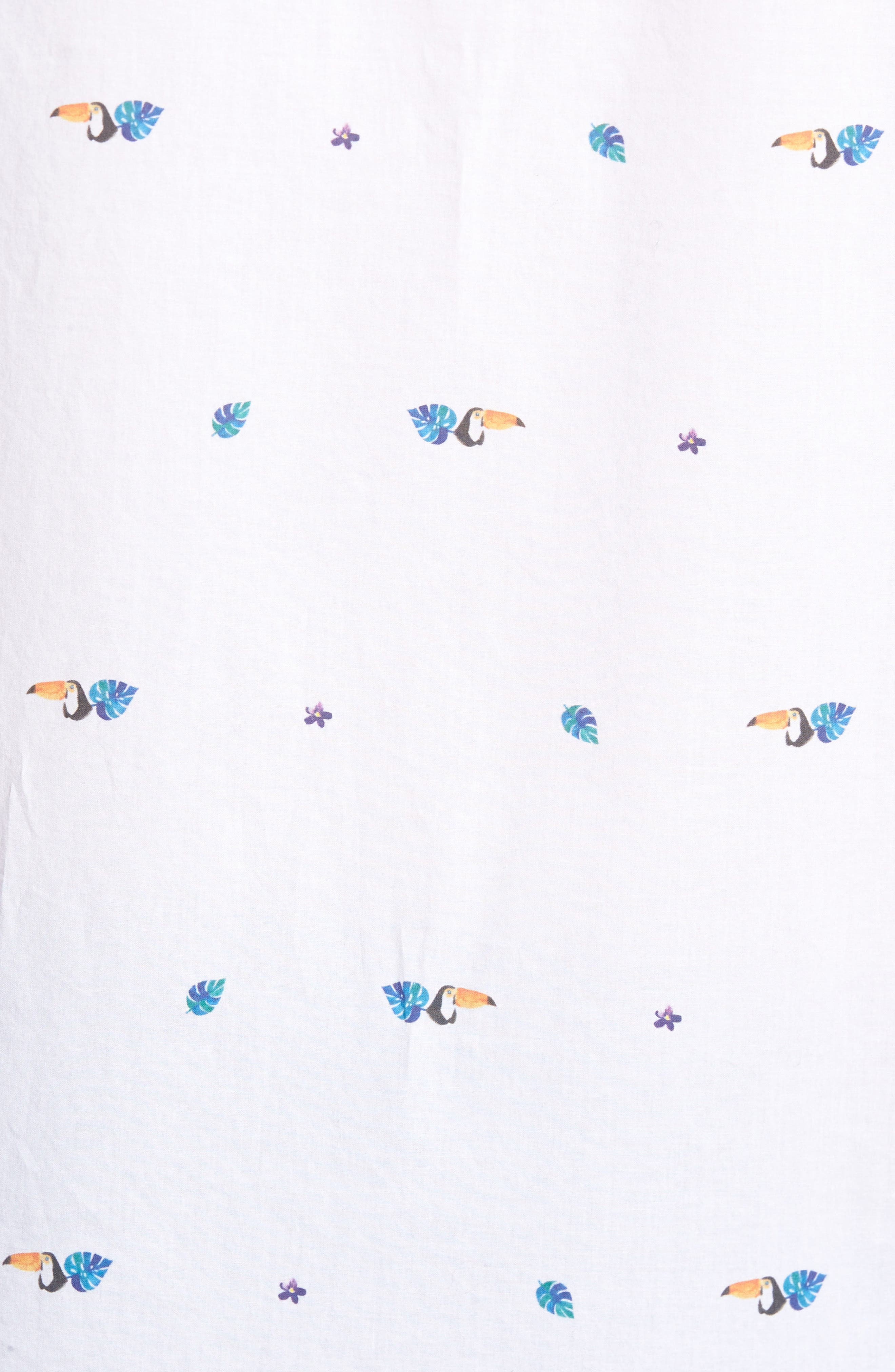 Toucan Print Sport Shirt,                             Alternate thumbnail 5, color,                             Toucan Print