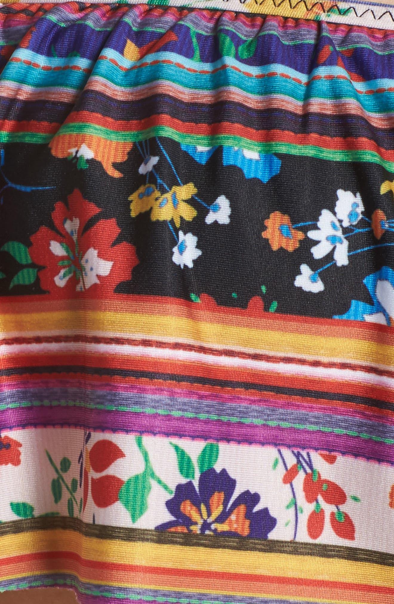 Freda Off the Shoulder Ruffle Bikini Top,                             Alternate thumbnail 5, color,                             Multi