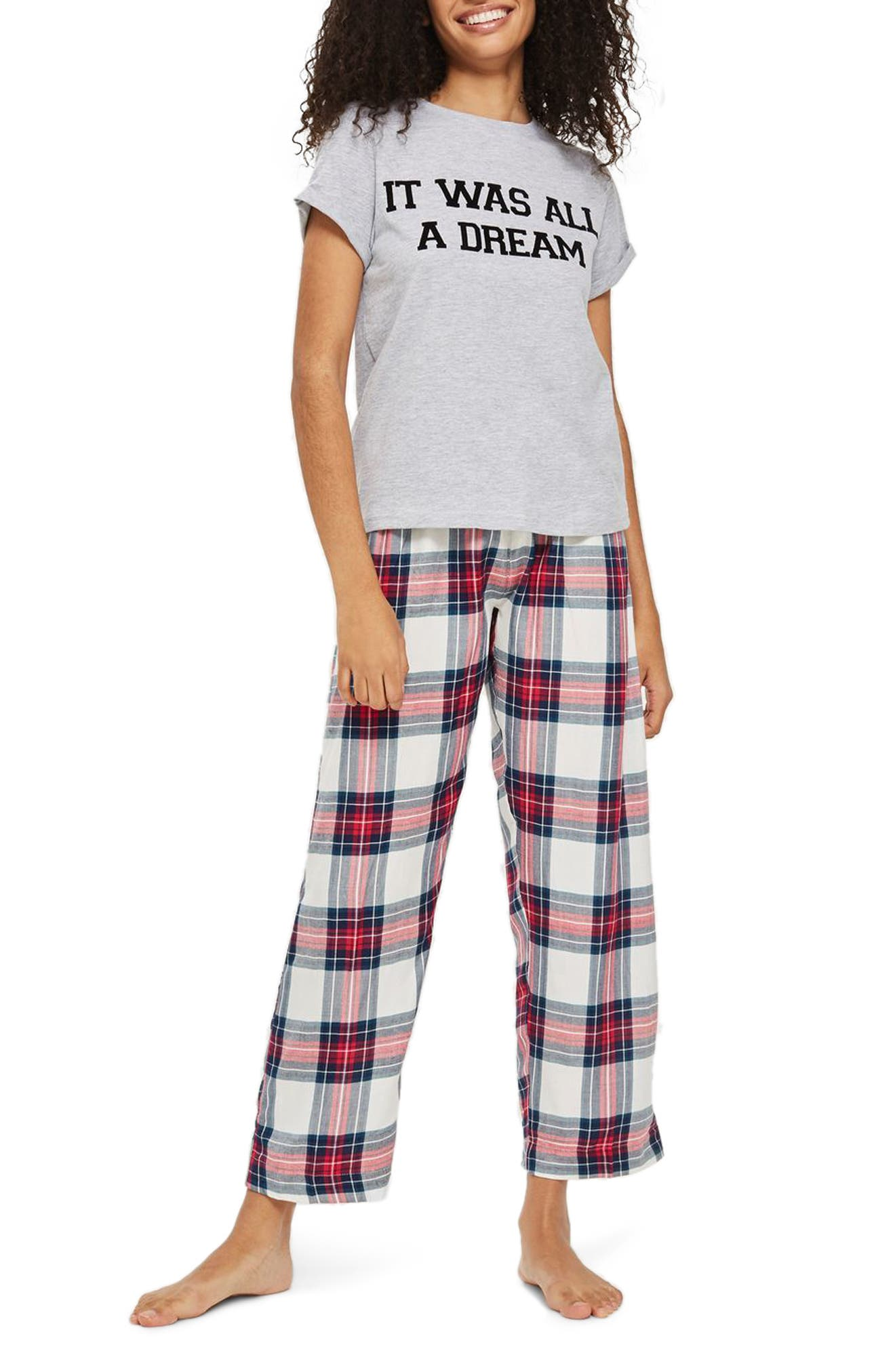 It Was All a Dream Pajamas,                             Main thumbnail 1, color,                             Red Multi