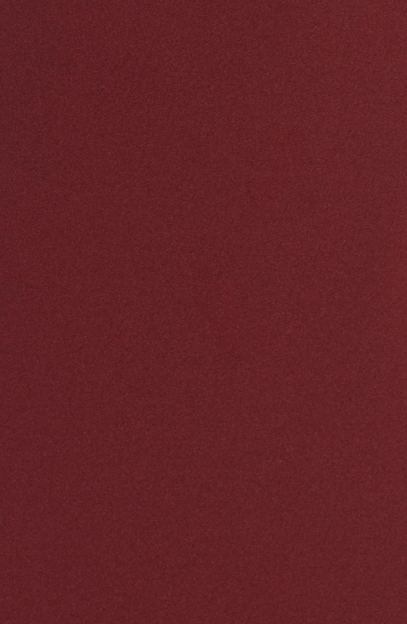 Titan One-Shoulder Cutout Crepe Gown,                             Alternate thumbnail 5, color,                             Bordeaux