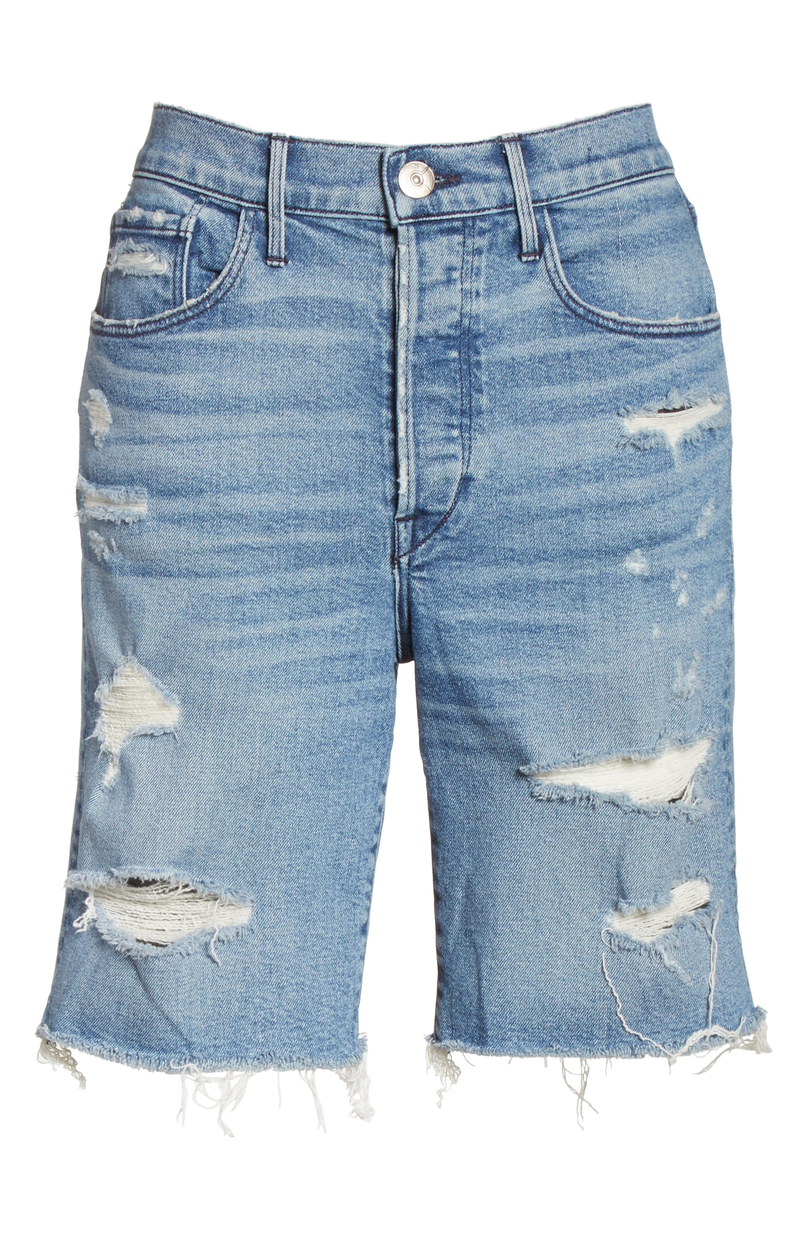 W3 Ryder Ripped Denim Shorts,                             Alternate thumbnail 6, color,                             Sutra