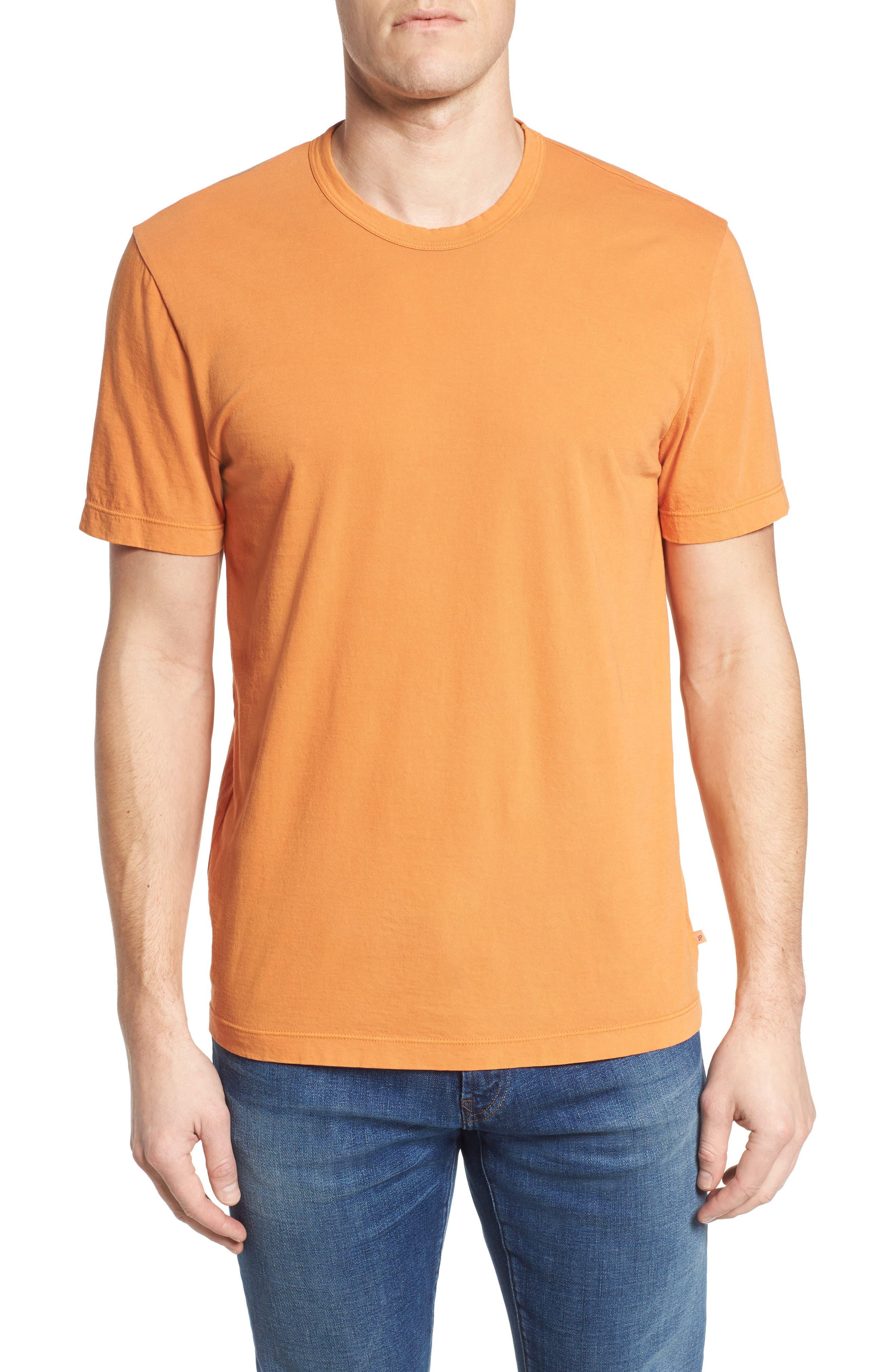Crewneck Jersey T-Shirt,                             Main thumbnail 1, color,                             Goldfish Pigment
