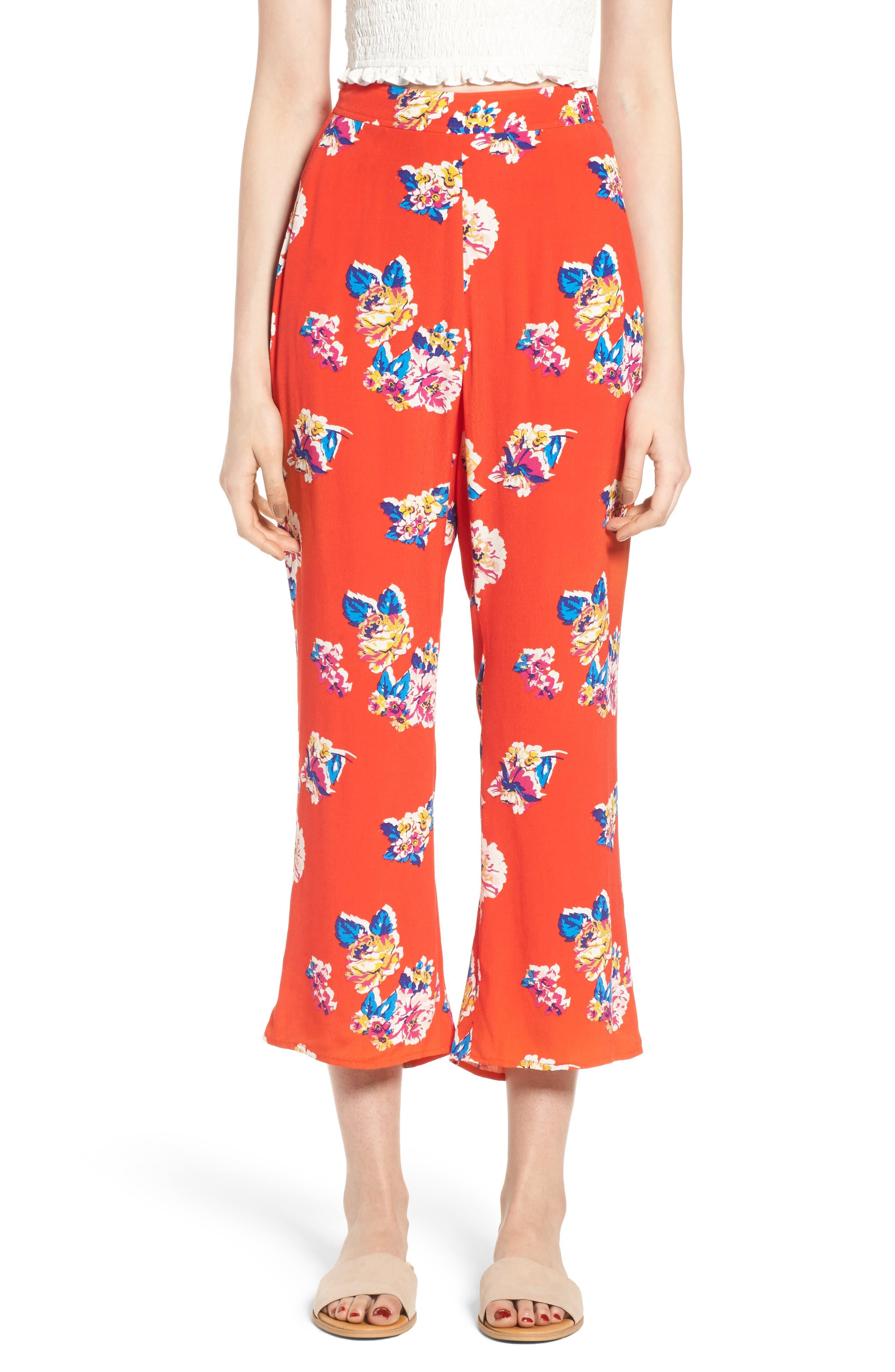 BP. Print Crop Flare Pants