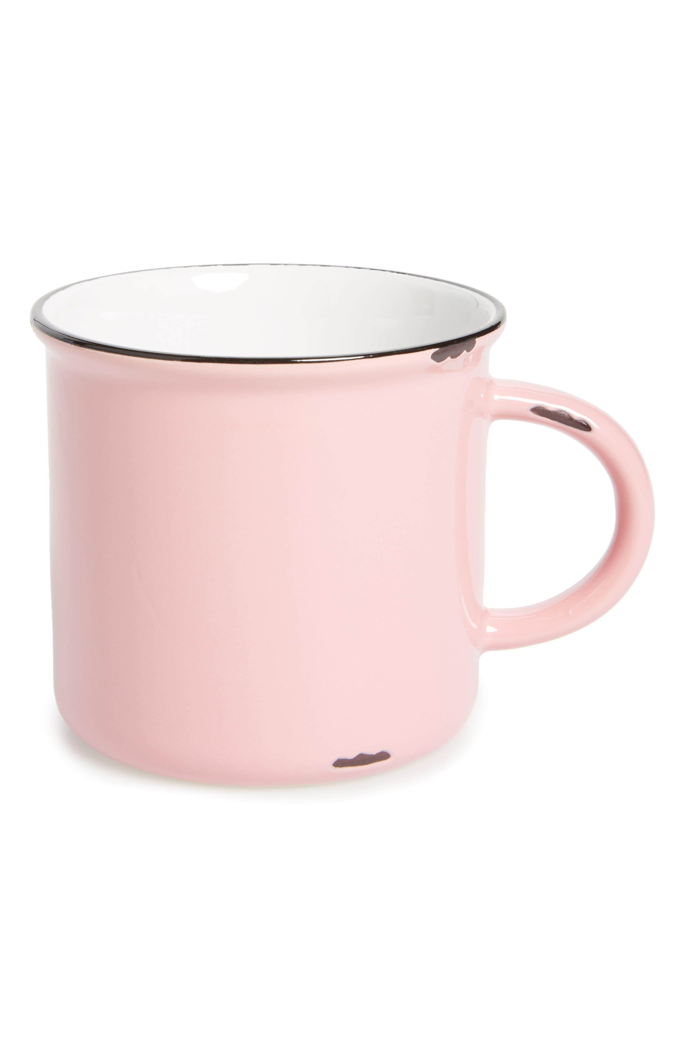 Stoneware Mug,                         Main,                         color, Pink