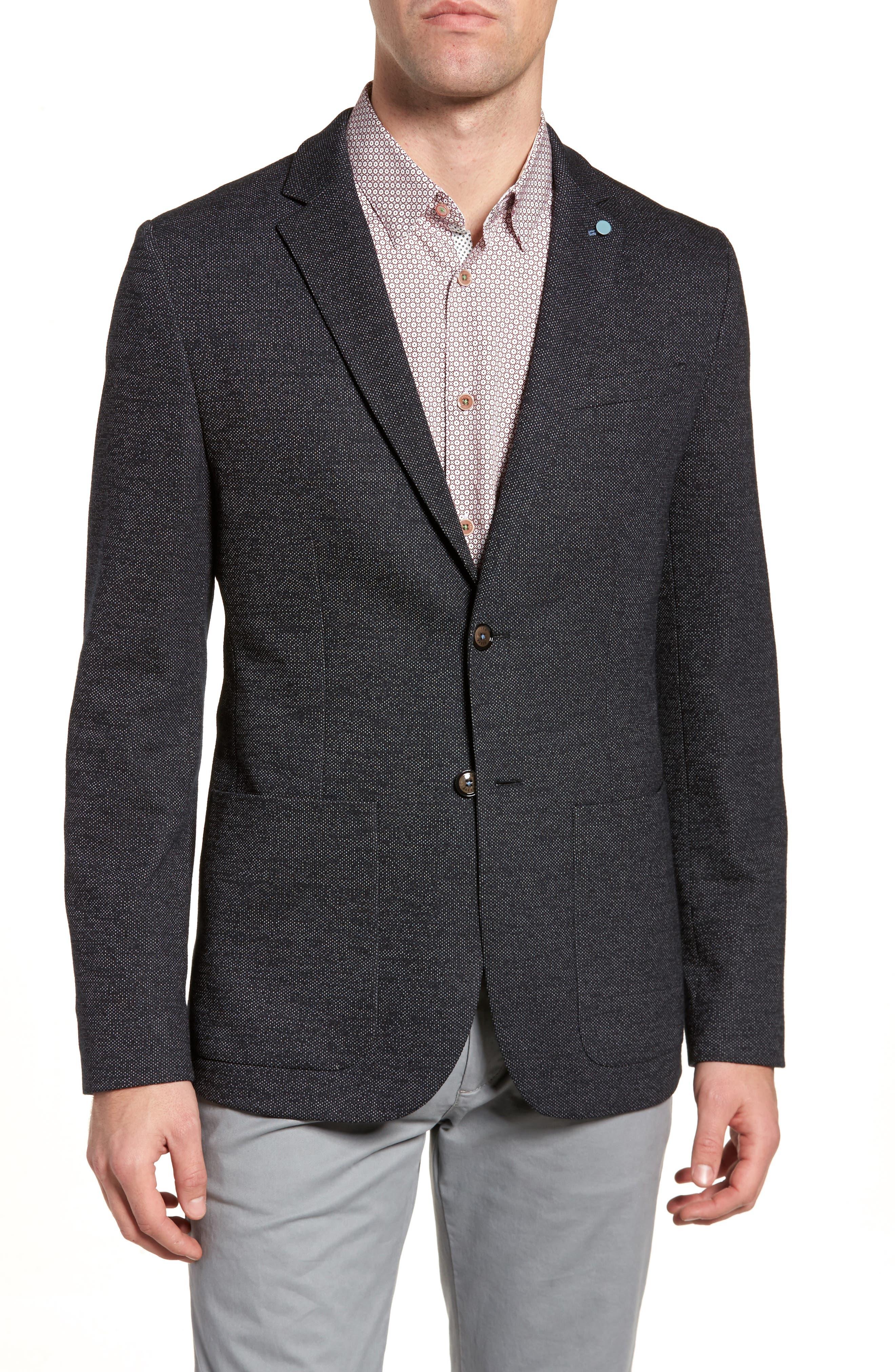 Elek Trim Fit Blazer,                         Main,                         color, Charcoal