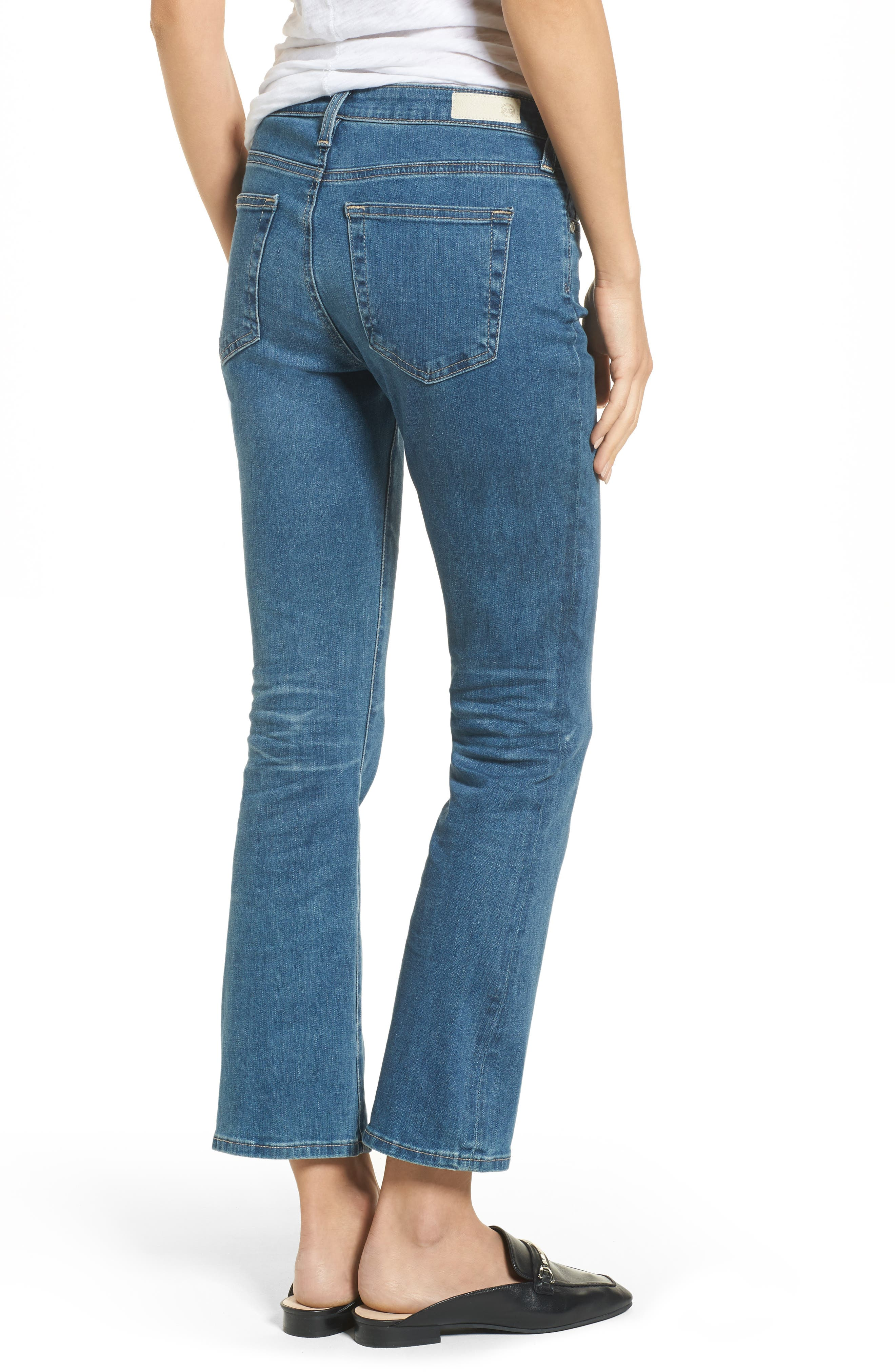 Alternate Image 2  - AG Jodi High Waist Crop Jeans (10 Years Sea Mist)